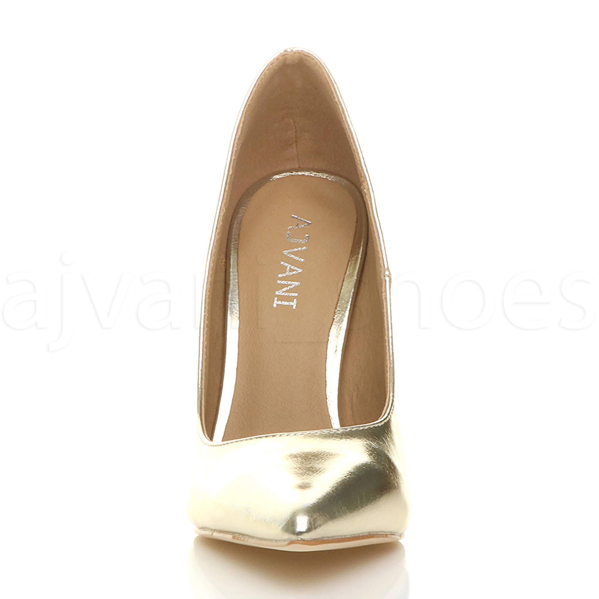 WOMENS-LADIES-HIGH-HEEL-POINTED-CONTRAST-COURT-SMART-PARTY-WORK-SHOES-PUMPS-SIZE thumbnail 69