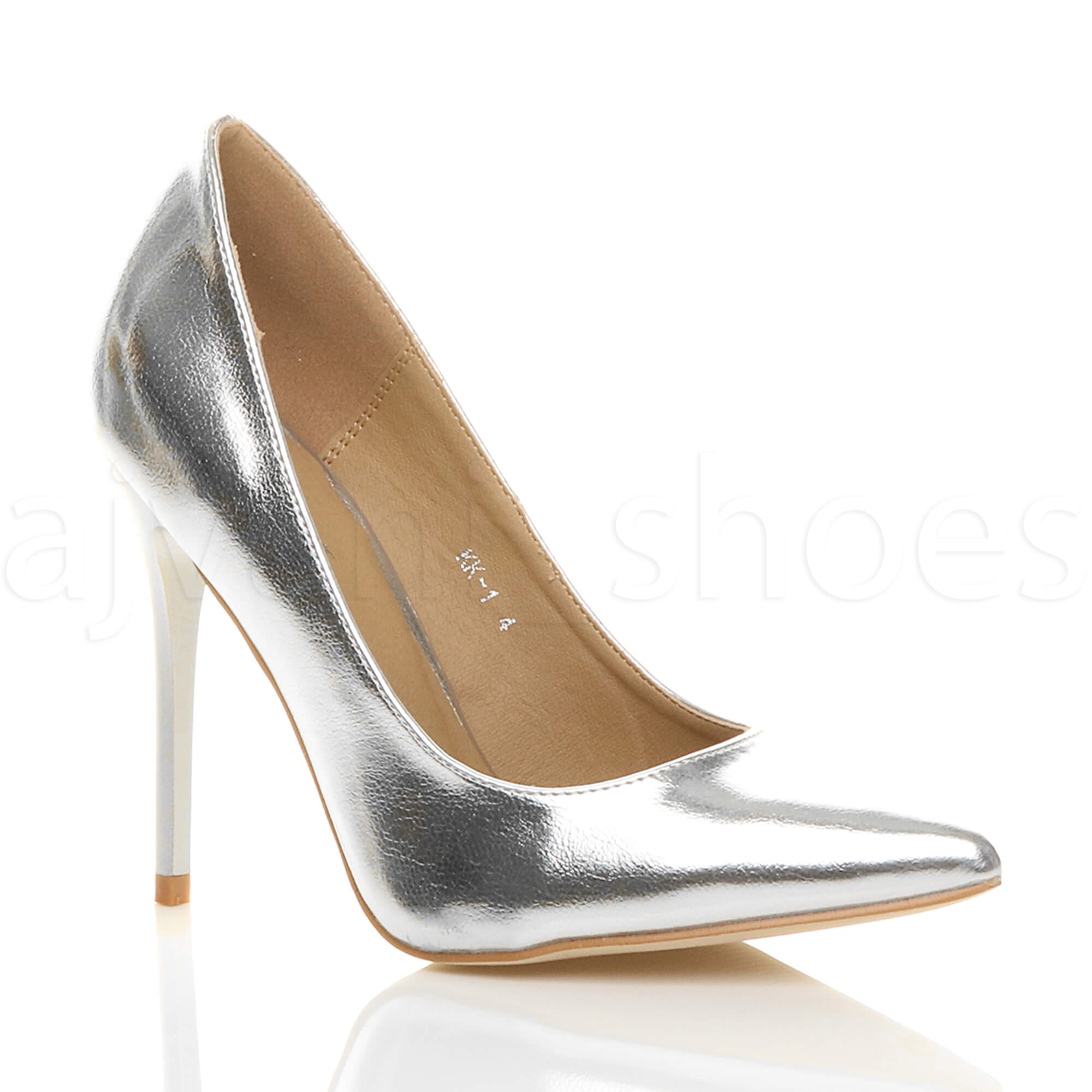 WOMENS-LADIES-HIGH-HEEL-POINTED-CONTRAST-COURT-SMART-PARTY-WORK-SHOES-PUMPS-SIZE thumbnail 192