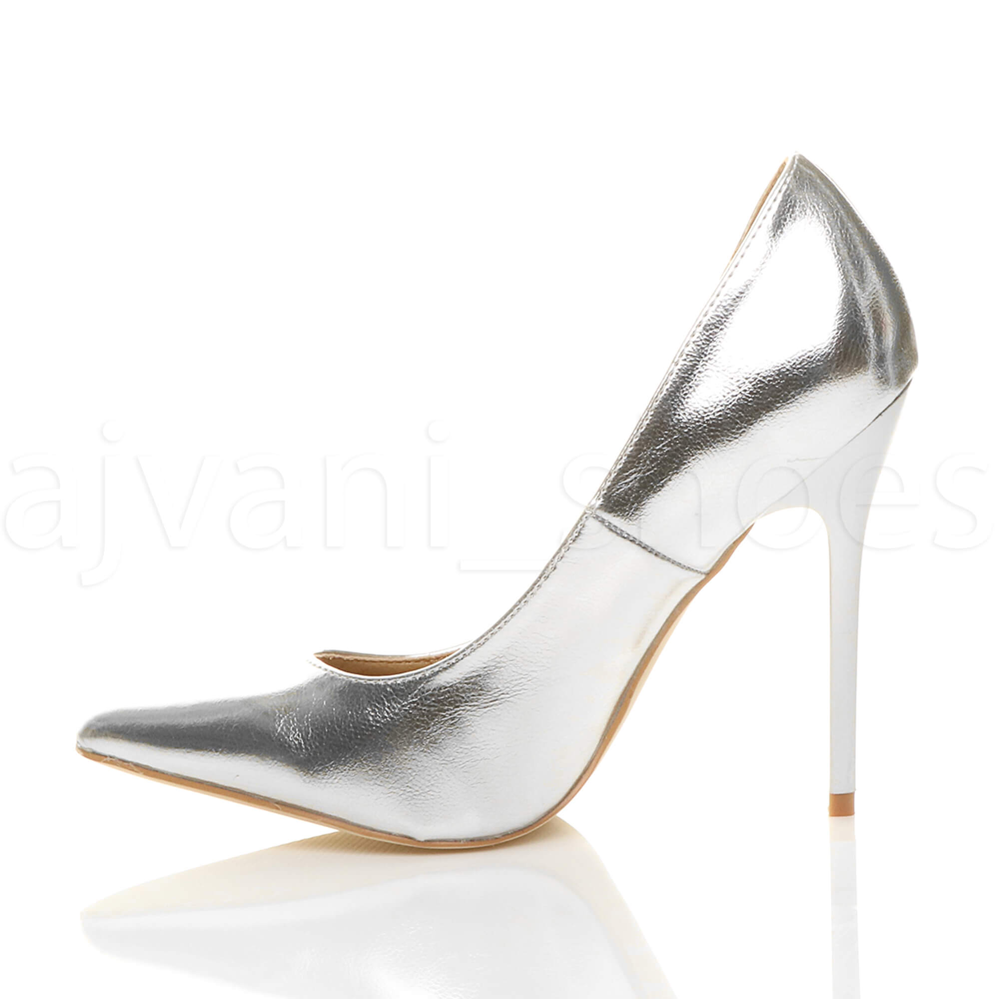 WOMENS-LADIES-HIGH-HEEL-POINTED-CONTRAST-COURT-SMART-PARTY-WORK-SHOES-PUMPS-SIZE thumbnail 194