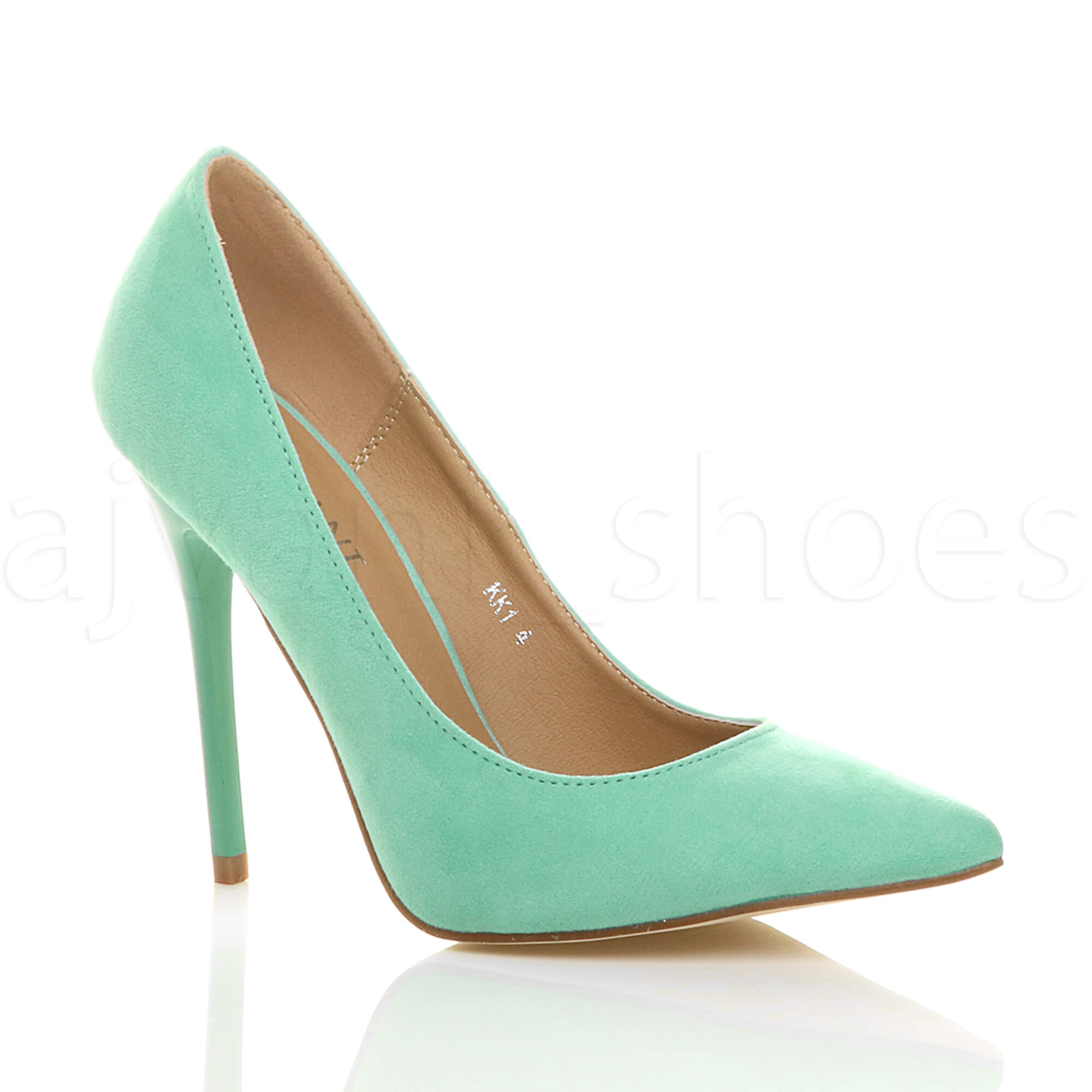 """Brand New Boxed Ladies Lime Green 6"""" High Wedge Heel Court Shoes UK 4 EU 37"""