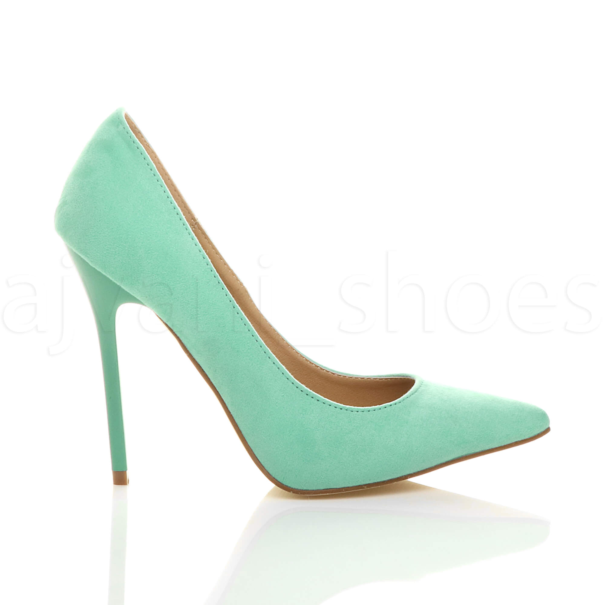 WOMENS-LADIES-HIGH-HEEL-POINTED-CONTRAST-COURT-SMART-PARTY-WORK-SHOES-PUMPS-SIZE thumbnail 145