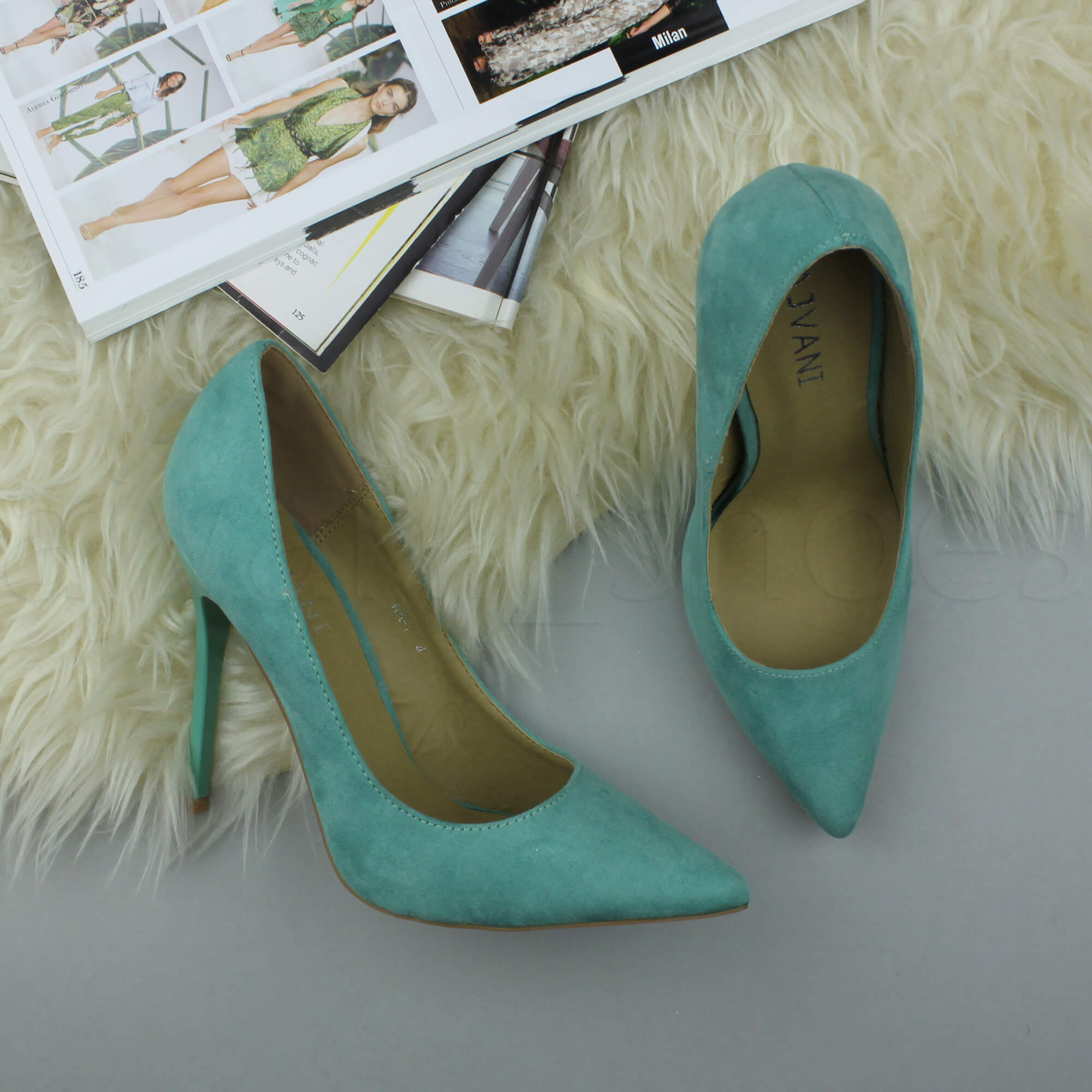 WOMENS-LADIES-HIGH-HEEL-POINTED-CONTRAST-COURT-SMART-PARTY-WORK-SHOES-PUMPS-SIZE thumbnail 147