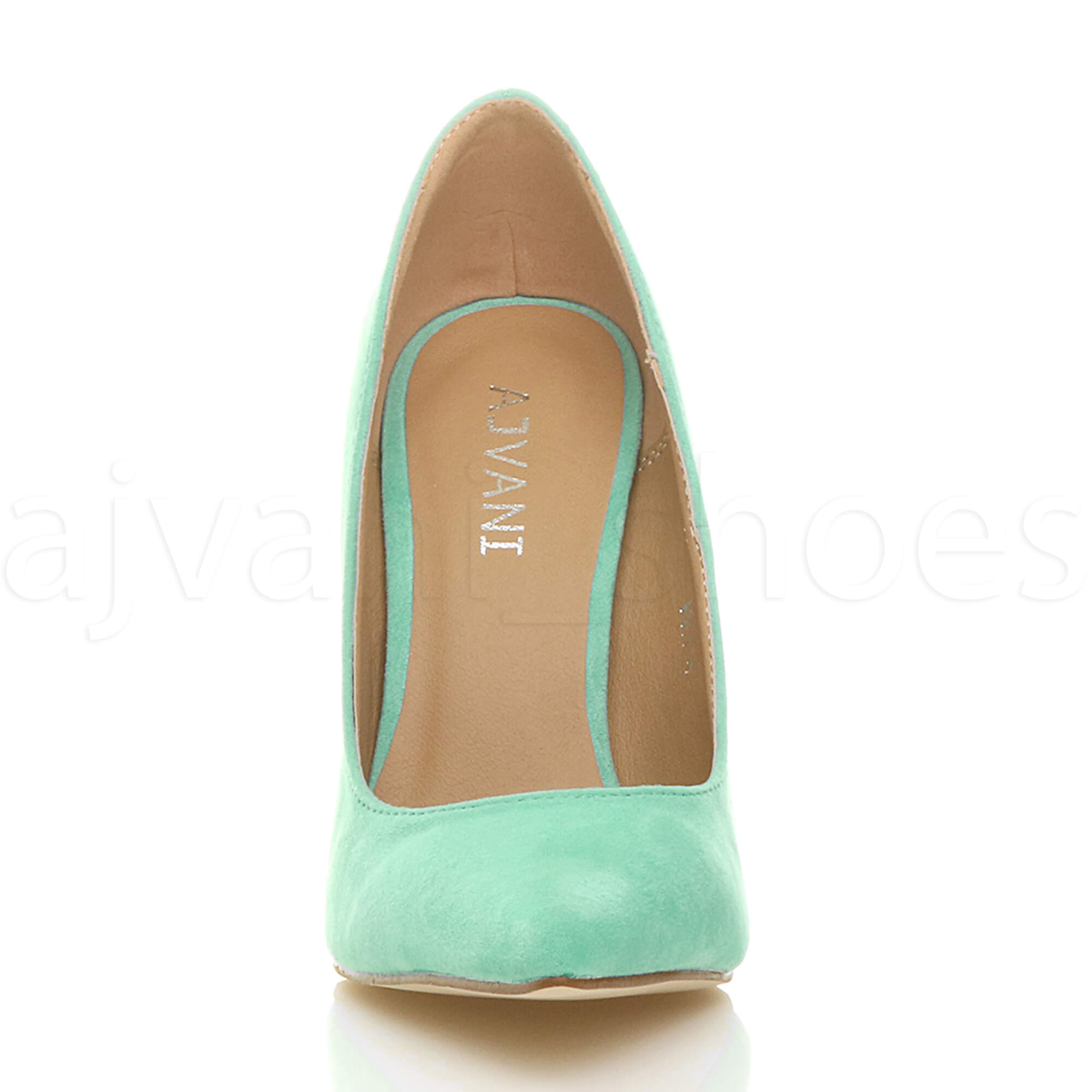 WOMENS-LADIES-HIGH-HEEL-POINTED-CONTRAST-COURT-SMART-PARTY-WORK-SHOES-PUMPS-SIZE thumbnail 149