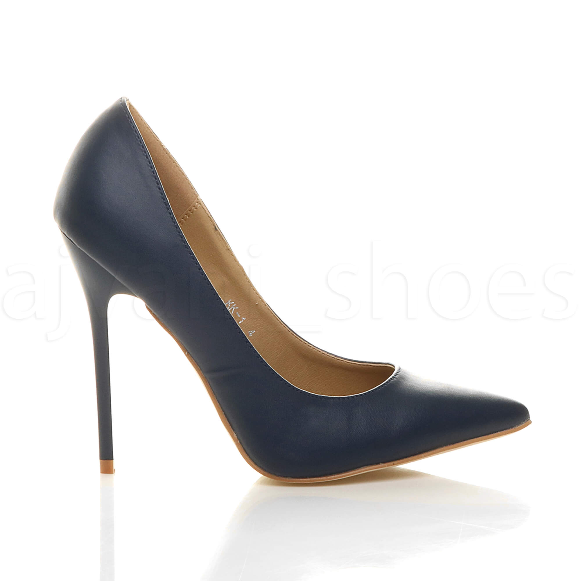 WOMENS-LADIES-HIGH-HEEL-POINTED-CONTRAST-COURT-SMART-PARTY-WORK-SHOES-PUMPS-SIZE thumbnail 89