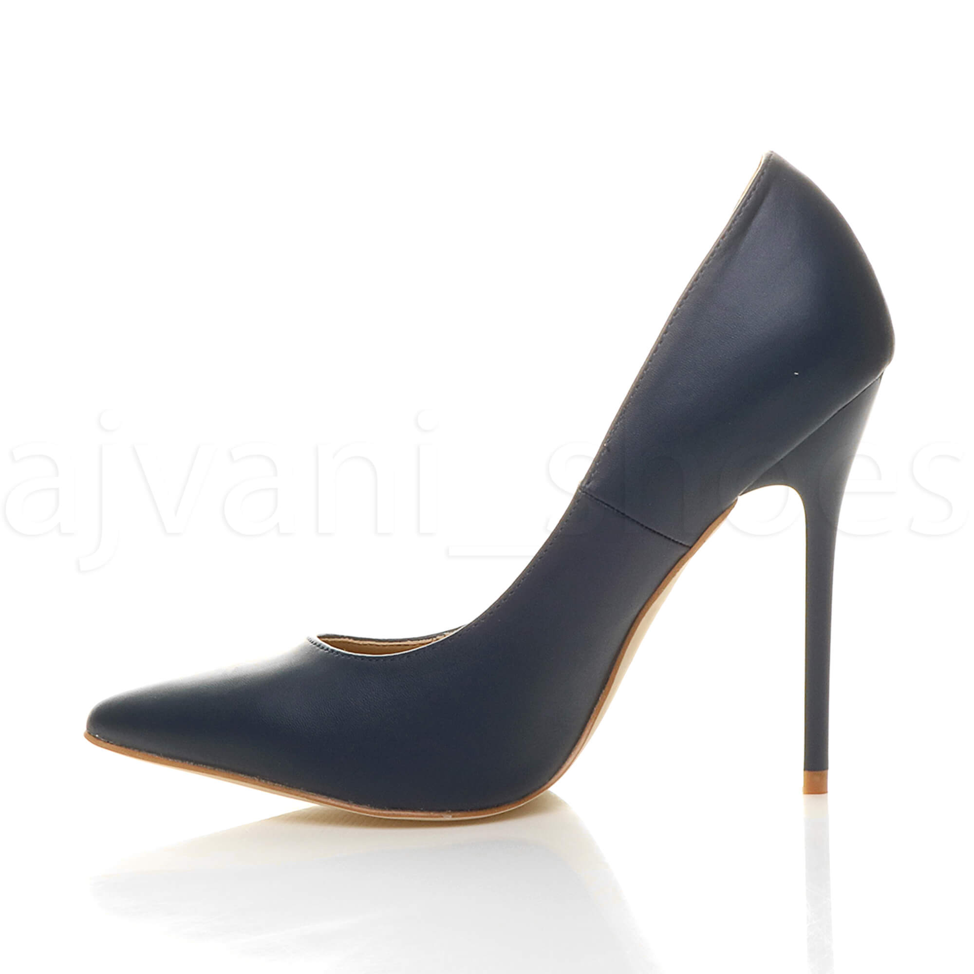 WOMENS-LADIES-HIGH-HEEL-POINTED-CONTRAST-COURT-SMART-PARTY-WORK-SHOES-PUMPS-SIZE thumbnail 90