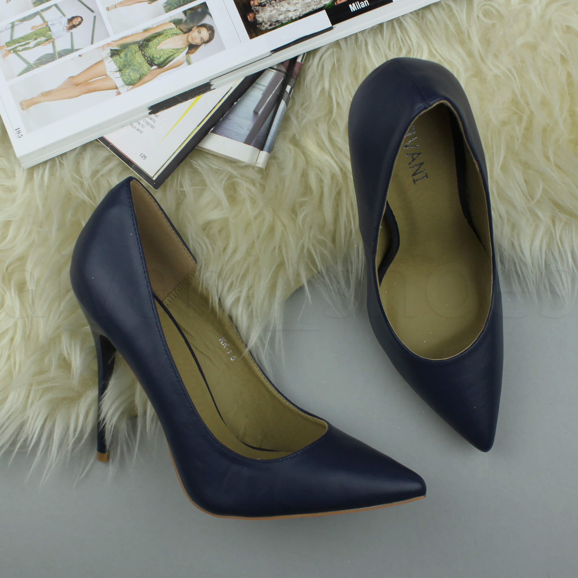WOMENS-LADIES-HIGH-HEEL-POINTED-CONTRAST-COURT-SMART-PARTY-WORK-SHOES-PUMPS-SIZE thumbnail 91