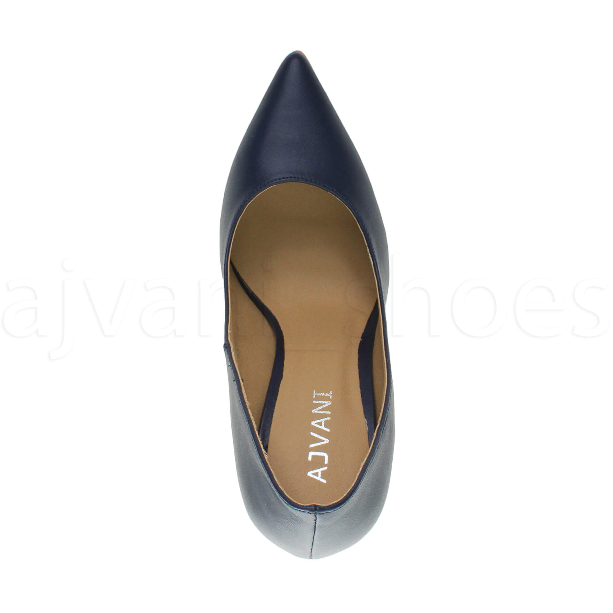 WOMENS-LADIES-HIGH-HEEL-POINTED-CONTRAST-COURT-SMART-PARTY-WORK-SHOES-PUMPS-SIZE thumbnail 110