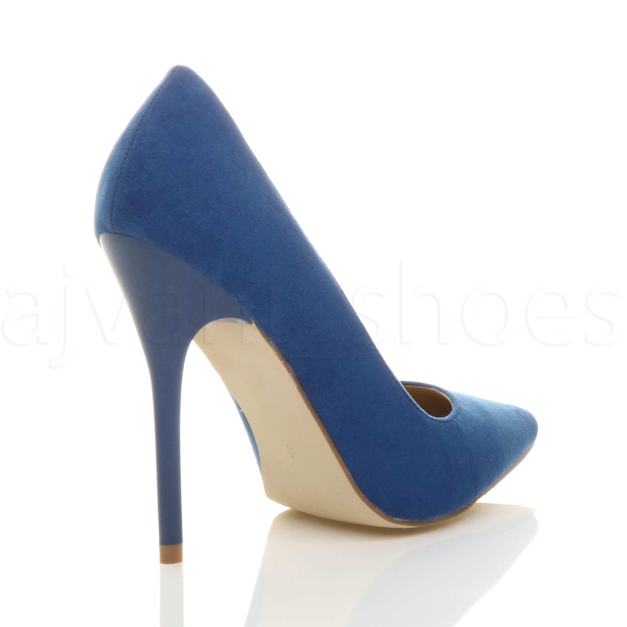 WOMENS-LADIES-HIGH-HEEL-POINTED-CONTRAST-COURT-SMART-PARTY-WORK-SHOES-PUMPS-SIZE thumbnail 53