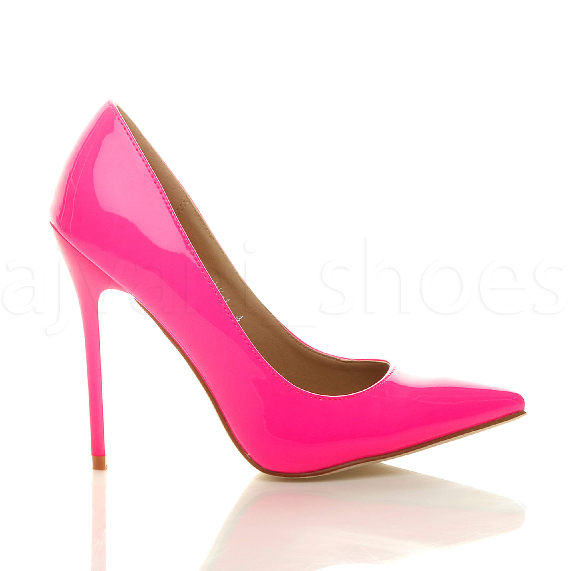 WOMENS-LADIES-HIGH-HEEL-POINTED-CONTRAST-COURT-SMART-PARTY-WORK-SHOES-PUMPS-SIZE thumbnail 105