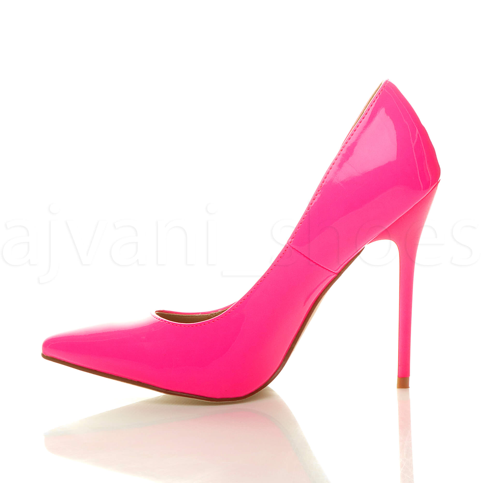 WOMENS-LADIES-HIGH-HEEL-POINTED-CONTRAST-COURT-SMART-PARTY-WORK-SHOES-PUMPS-SIZE thumbnail 106