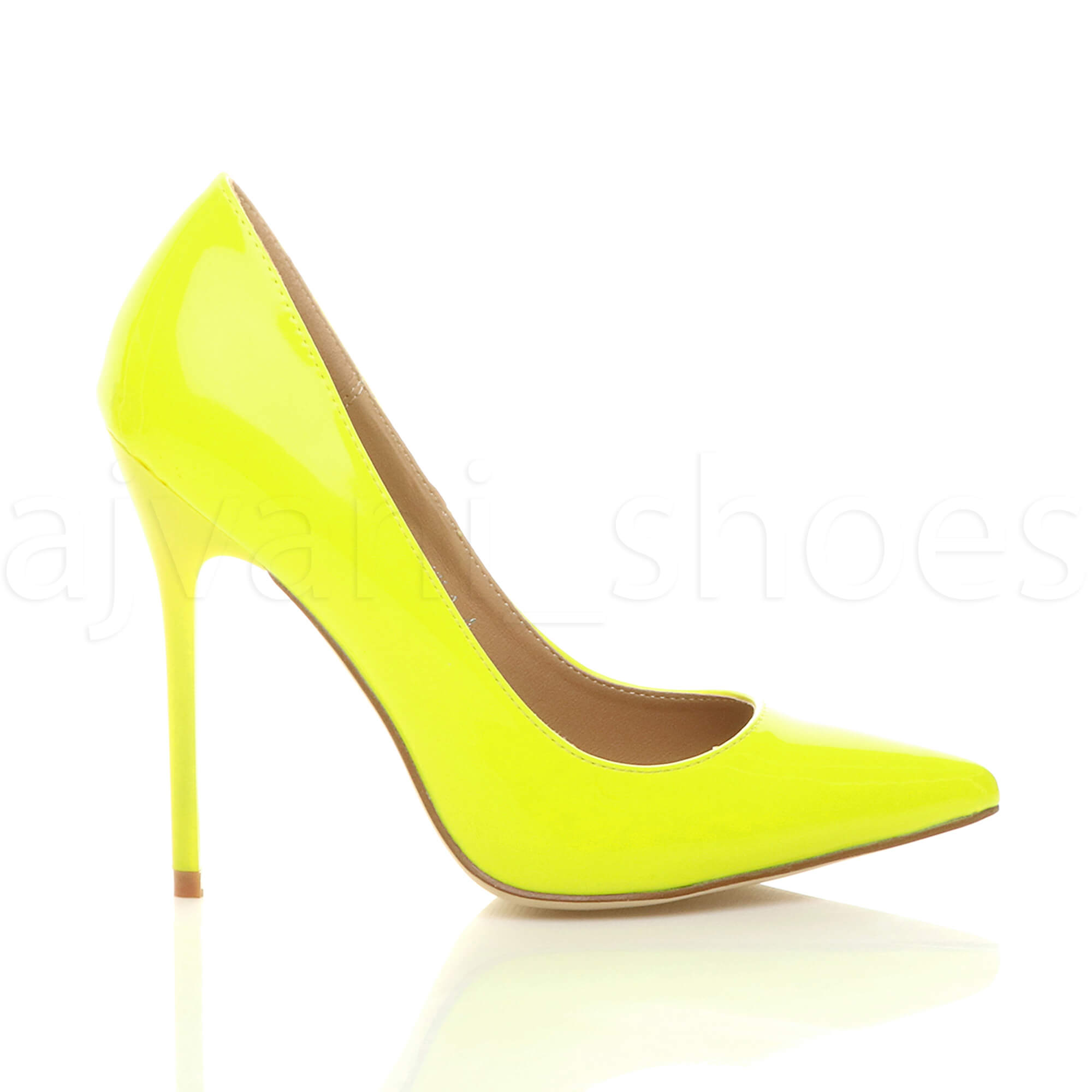 WOMENS-LADIES-HIGH-HEEL-POINTED-CONTRAST-COURT-SMART-PARTY-WORK-SHOES-PUMPS-SIZE thumbnail 129