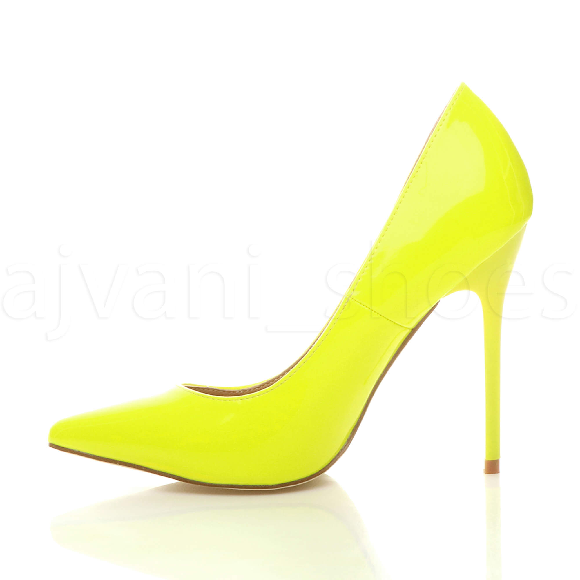 WOMENS-LADIES-HIGH-HEEL-POINTED-CONTRAST-COURT-SMART-PARTY-WORK-SHOES-PUMPS-SIZE thumbnail 114