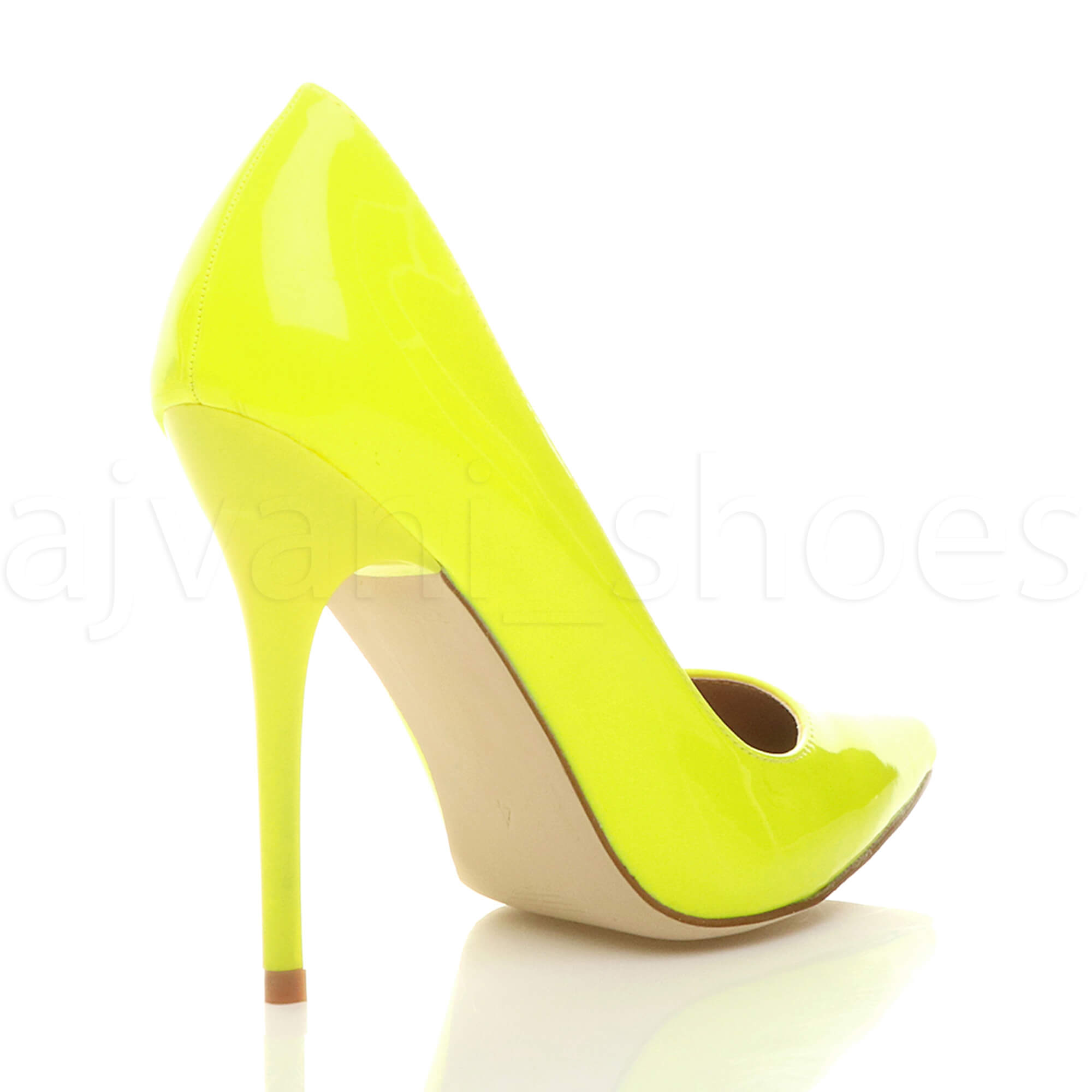 WOMENS-LADIES-HIGH-HEEL-POINTED-CONTRAST-COURT-SMART-PARTY-WORK-SHOES-PUMPS-SIZE thumbnail 115