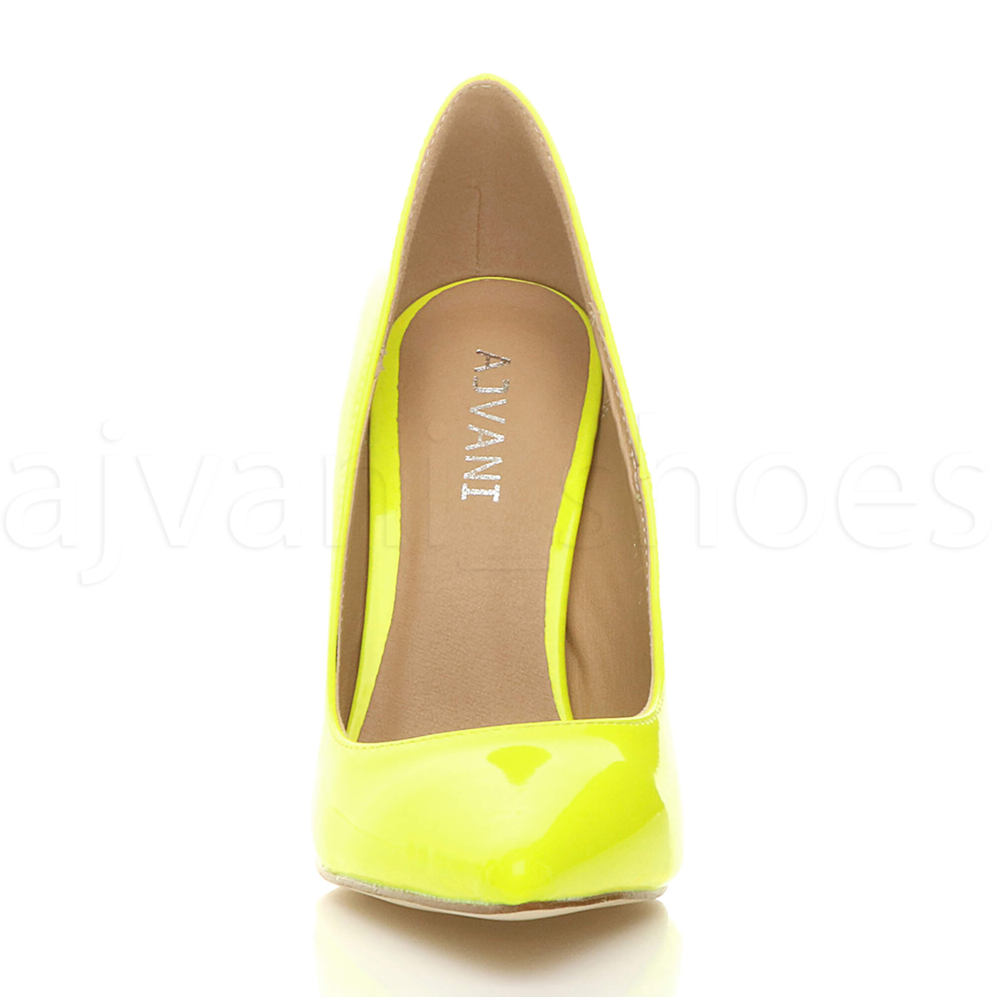 WOMENS-LADIES-HIGH-HEEL-POINTED-CONTRAST-COURT-SMART-PARTY-WORK-SHOES-PUMPS-SIZE thumbnail 117