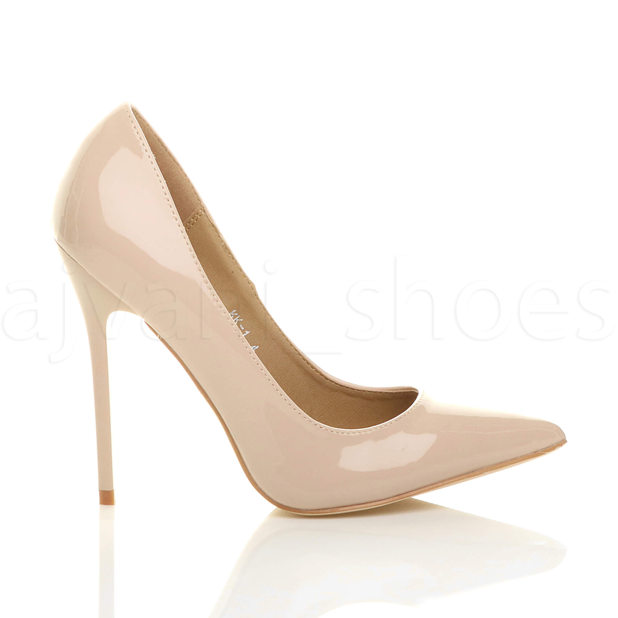 3527913b79051 WOMENS LADIES HIGH HEEL POINTED CONTRAST COURT SMART PARTY WORK ...