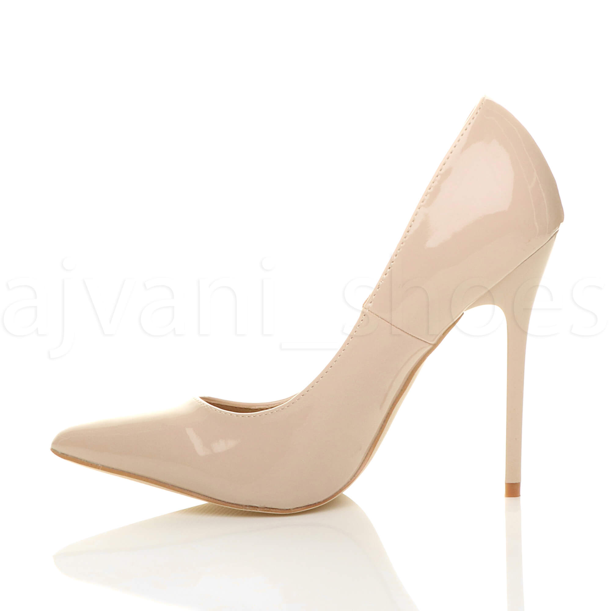 WOMENS-LADIES-HIGH-HEEL-POINTED-CONTRAST-COURT-SMART-PARTY-WORK-SHOES-PUMPS-SIZE thumbnail 146