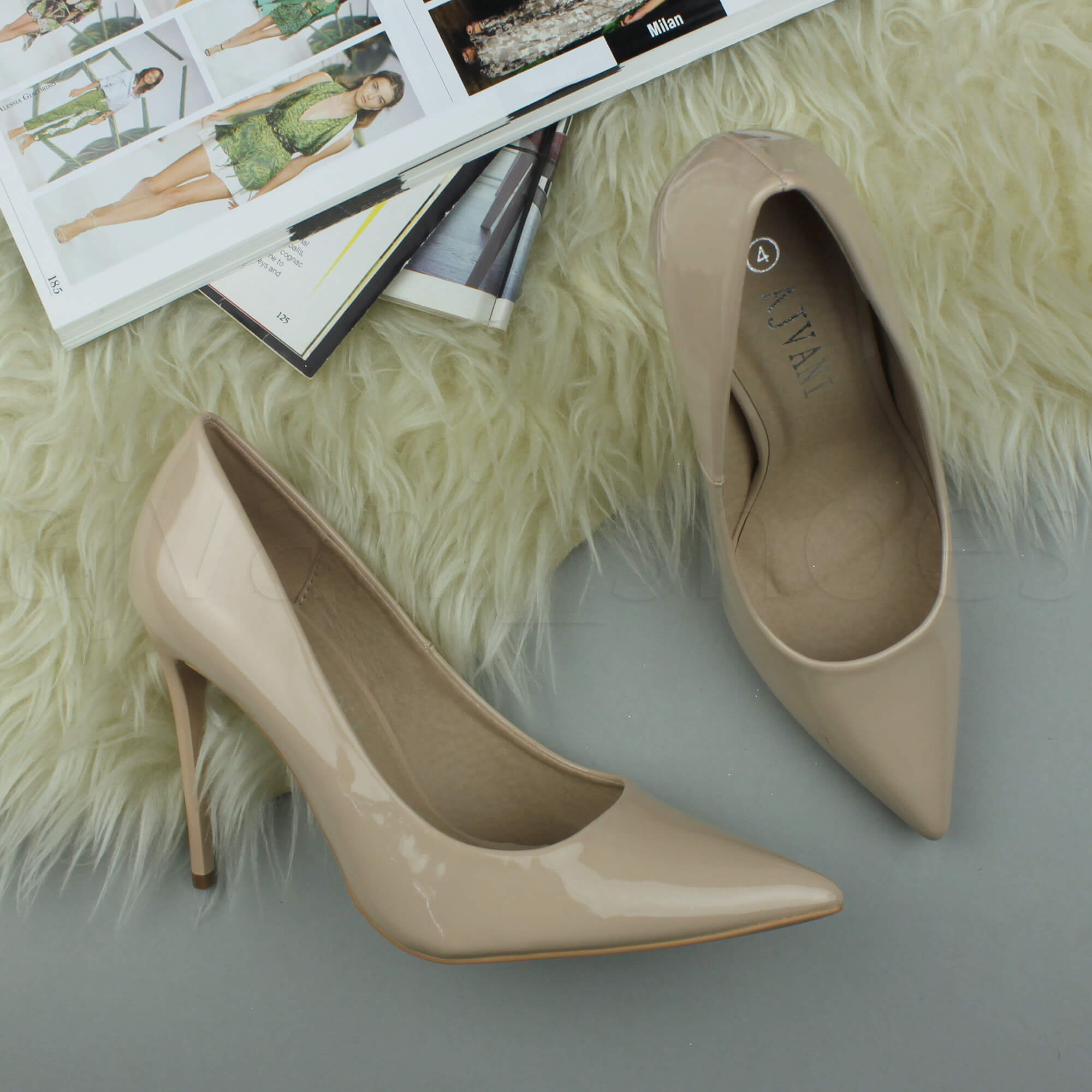 WOMENS-LADIES-HIGH-HEEL-POINTED-CONTRAST-COURT-SMART-PARTY-WORK-SHOES-PUMPS-SIZE thumbnail 131