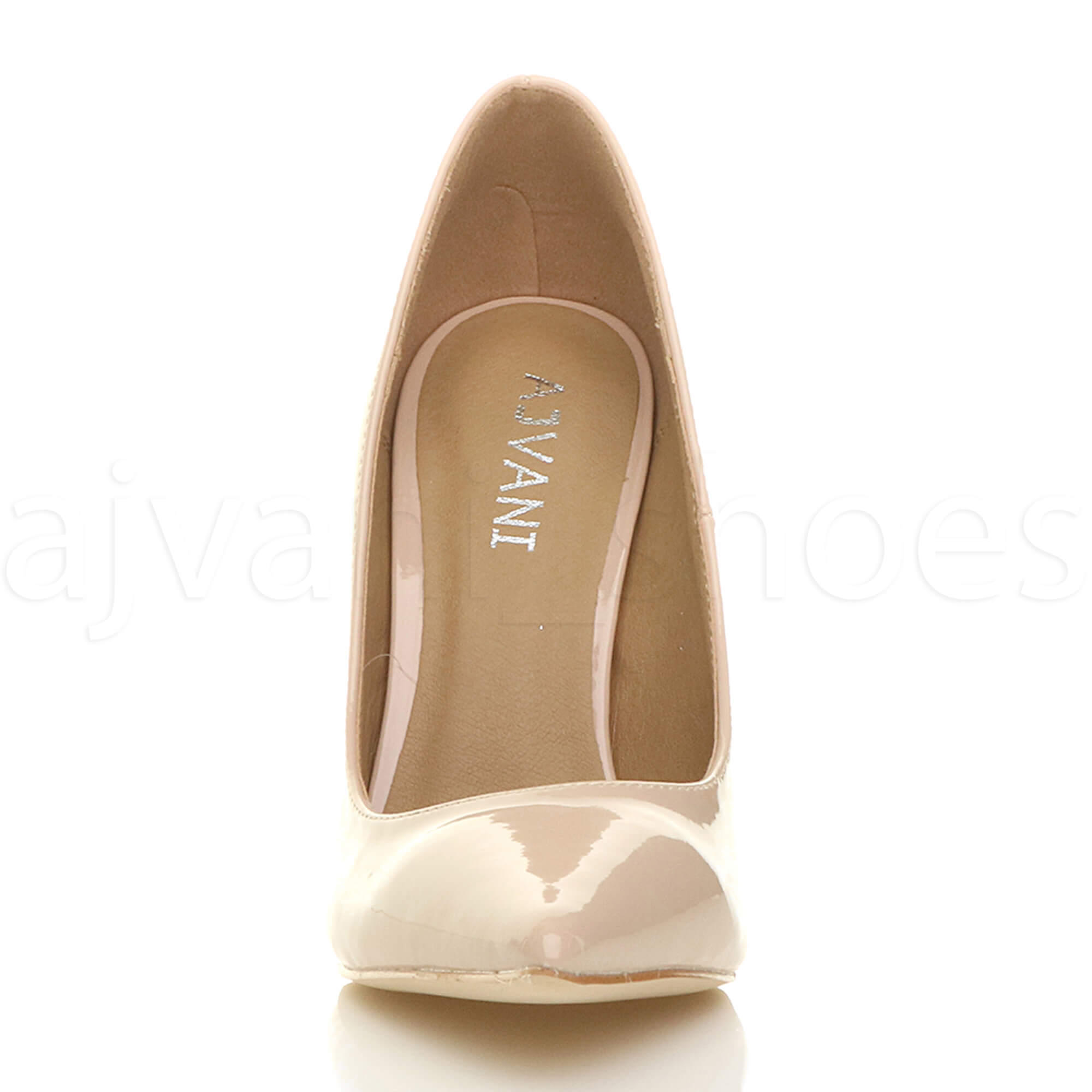 WOMENS-LADIES-HIGH-HEEL-POINTED-CONTRAST-COURT-SMART-PARTY-WORK-SHOES-PUMPS-SIZE thumbnail 133