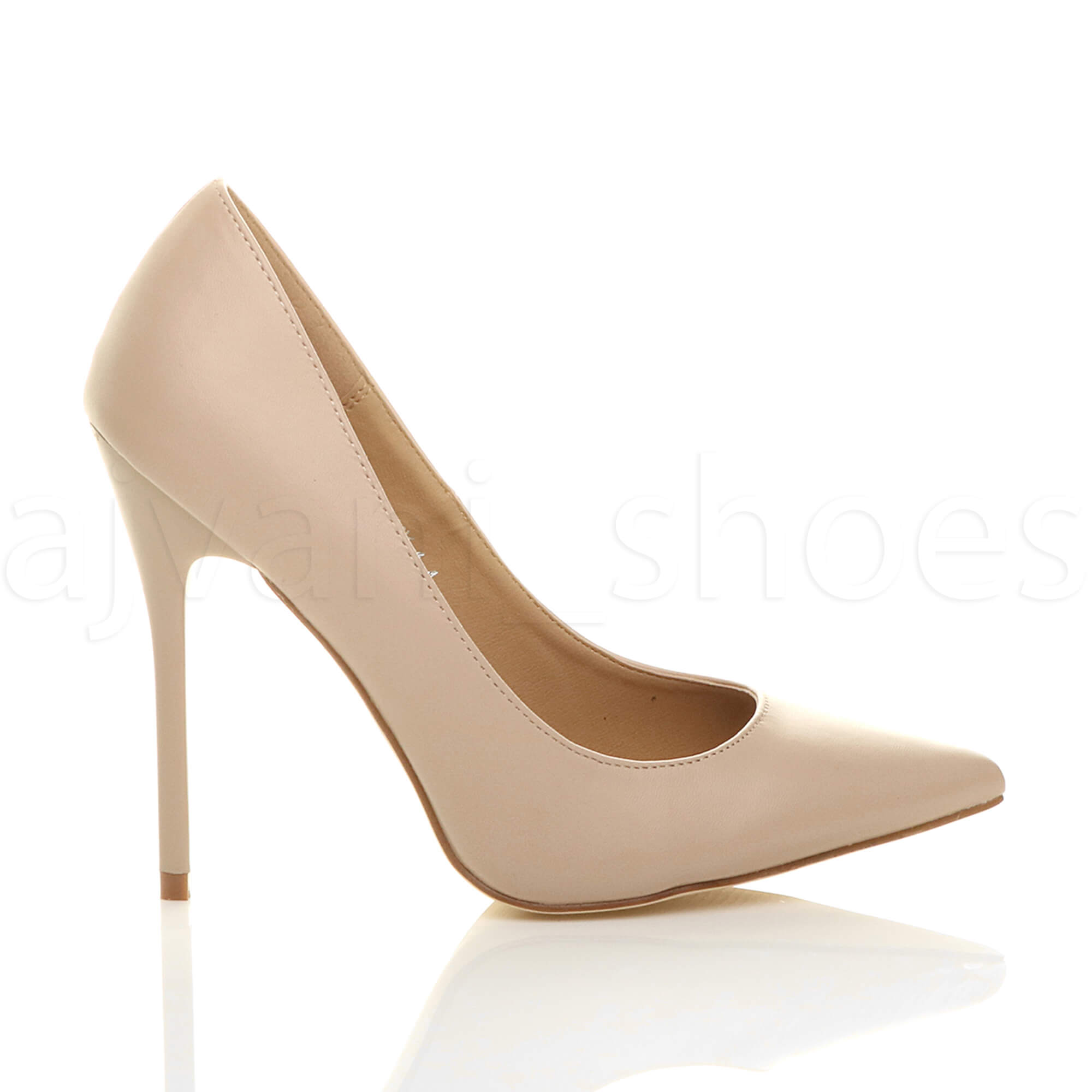 WOMENS-LADIES-HIGH-HEEL-POINTED-CONTRAST-COURT-SMART-PARTY-WORK-SHOES-PUMPS-SIZE thumbnail 121