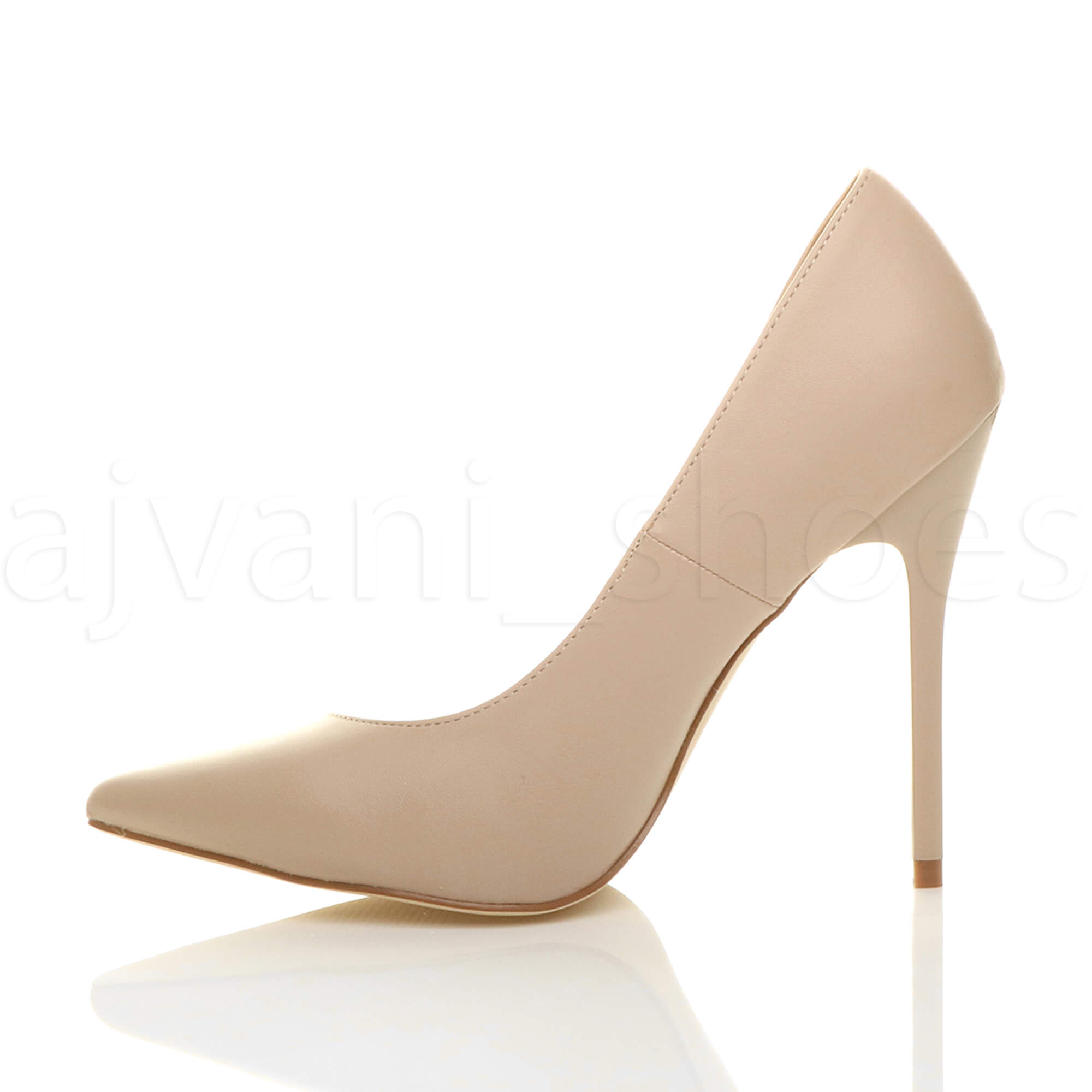 WOMENS-LADIES-HIGH-HEEL-POINTED-CONTRAST-COURT-SMART-PARTY-WORK-SHOES-PUMPS-SIZE thumbnail 122