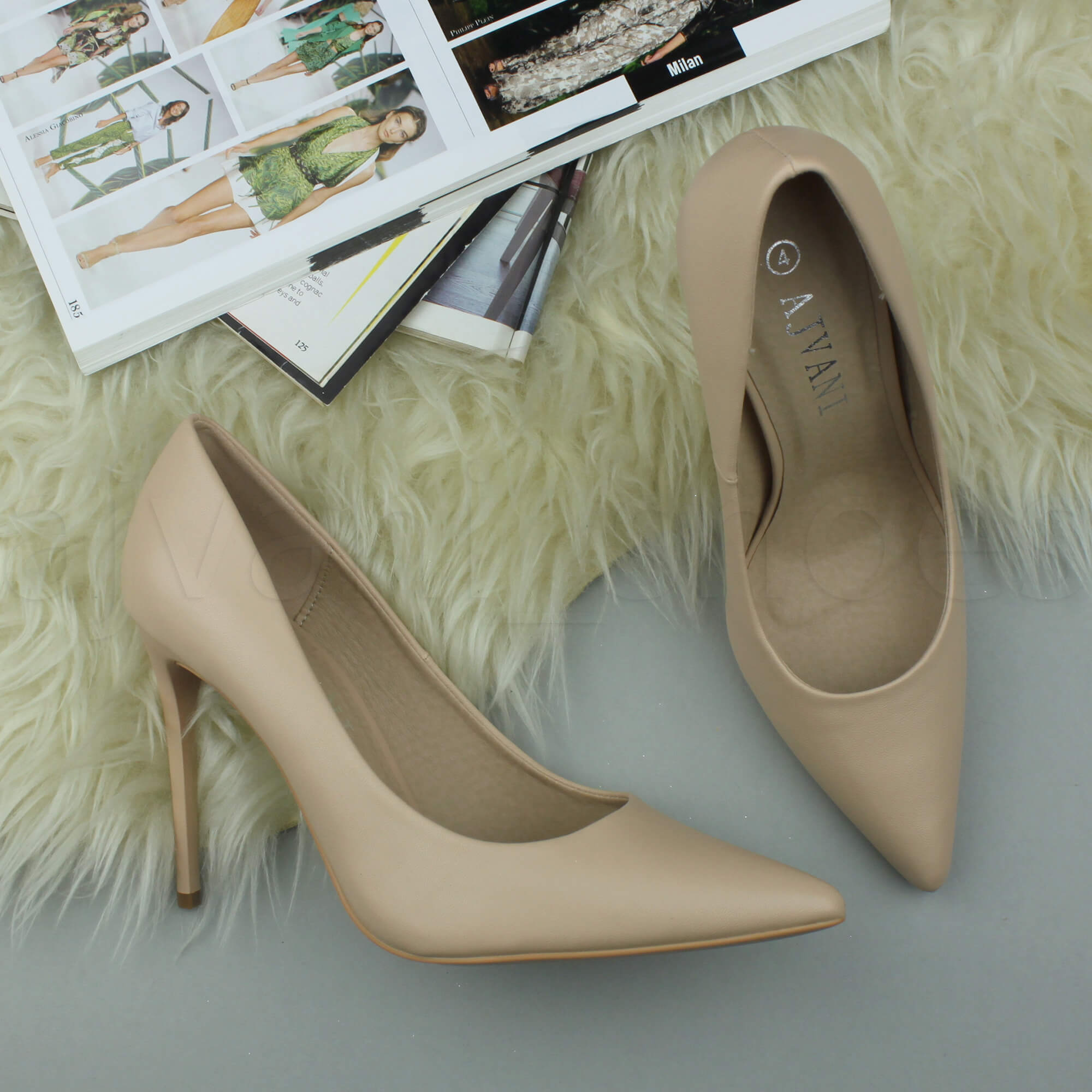 WOMENS-LADIES-HIGH-HEEL-POINTED-CONTRAST-COURT-SMART-PARTY-WORK-SHOES-PUMPS-SIZE thumbnail 123
