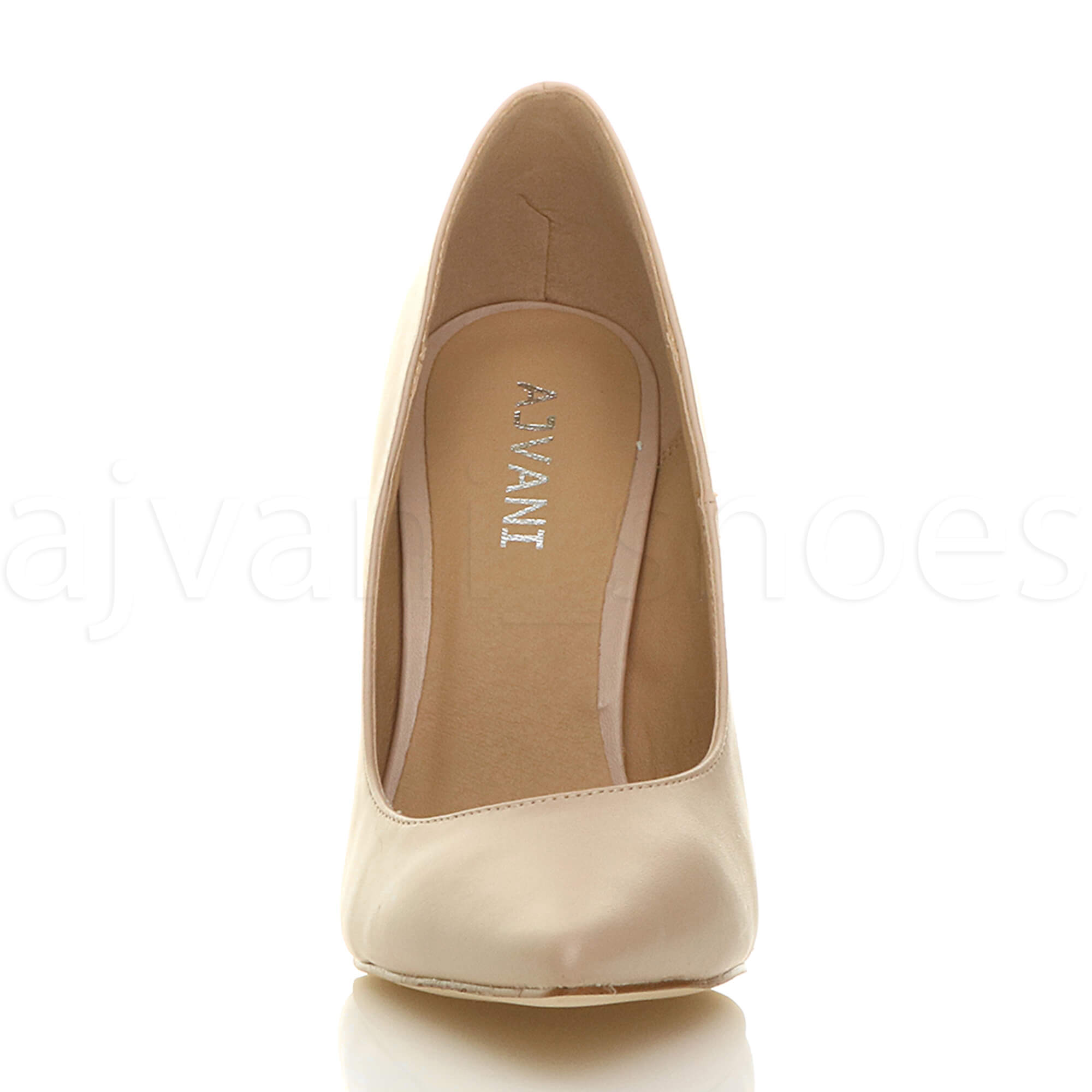 WOMENS-LADIES-HIGH-HEEL-POINTED-CONTRAST-COURT-SMART-PARTY-WORK-SHOES-PUMPS-SIZE thumbnail 125