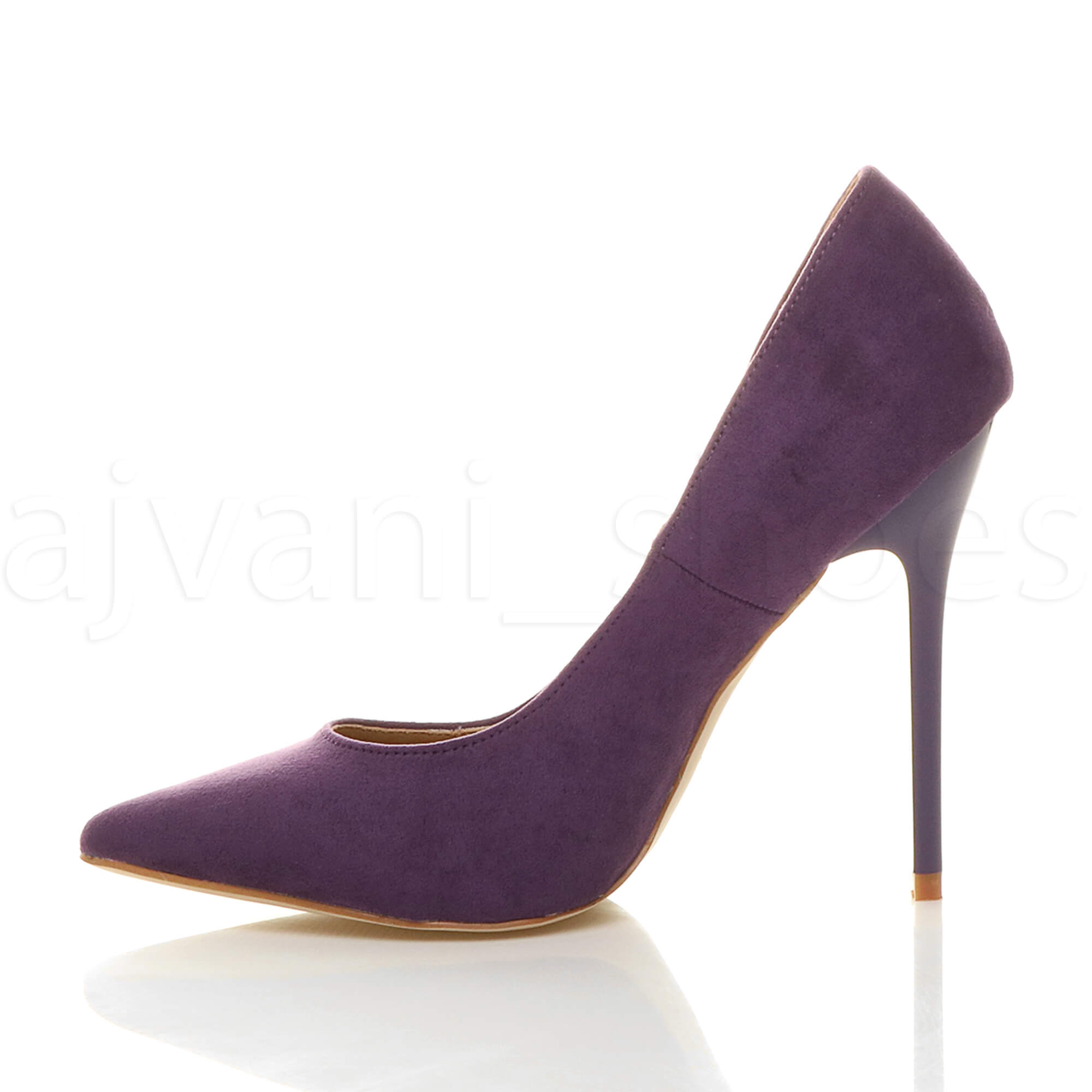 WOMENS-LADIES-HIGH-HEEL-POINTED-CONTRAST-COURT-SMART-PARTY-WORK-SHOES-PUMPS-SIZE thumbnail 170