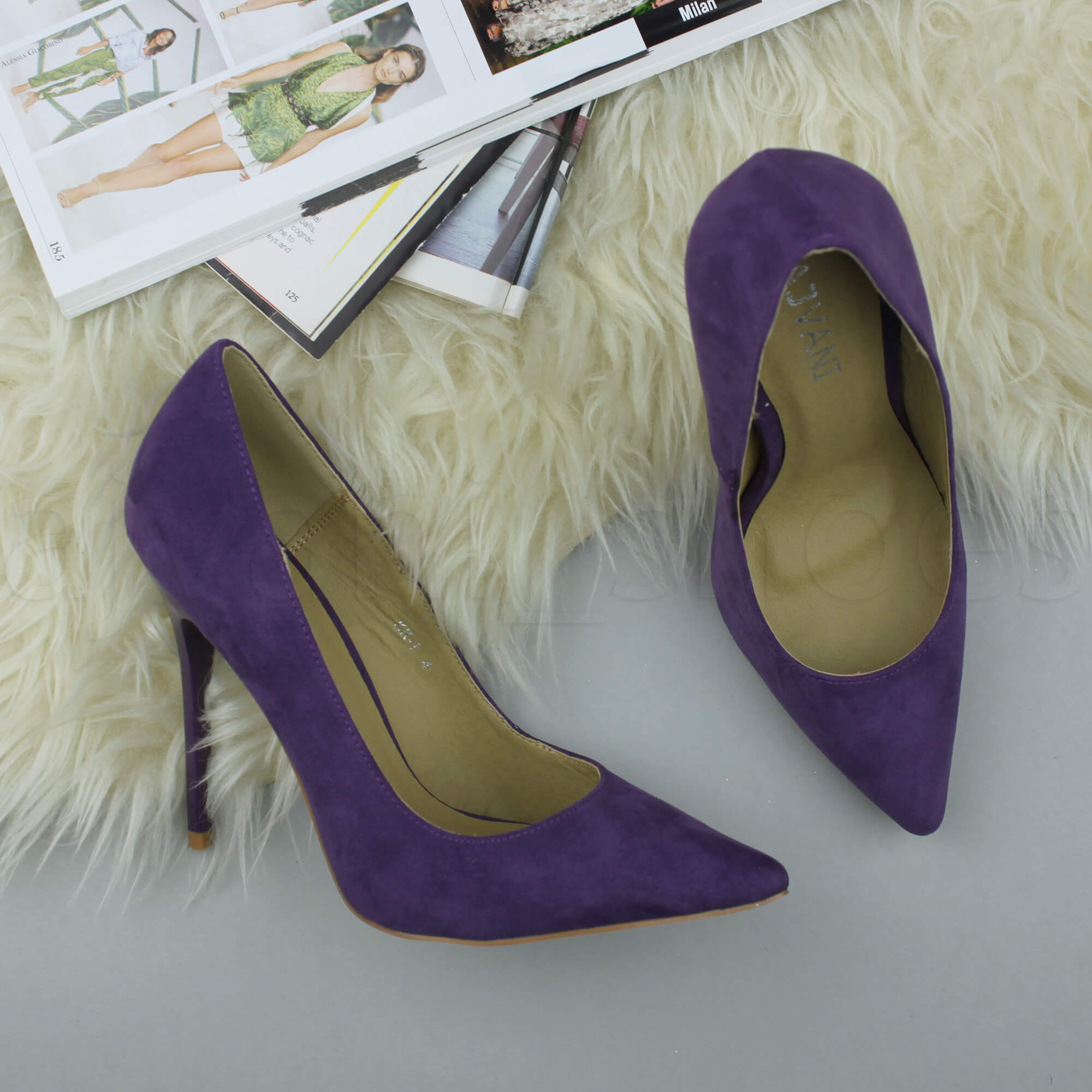 WOMENS-LADIES-HIGH-HEEL-POINTED-CONTRAST-COURT-SMART-PARTY-WORK-SHOES-PUMPS-SIZE thumbnail 155