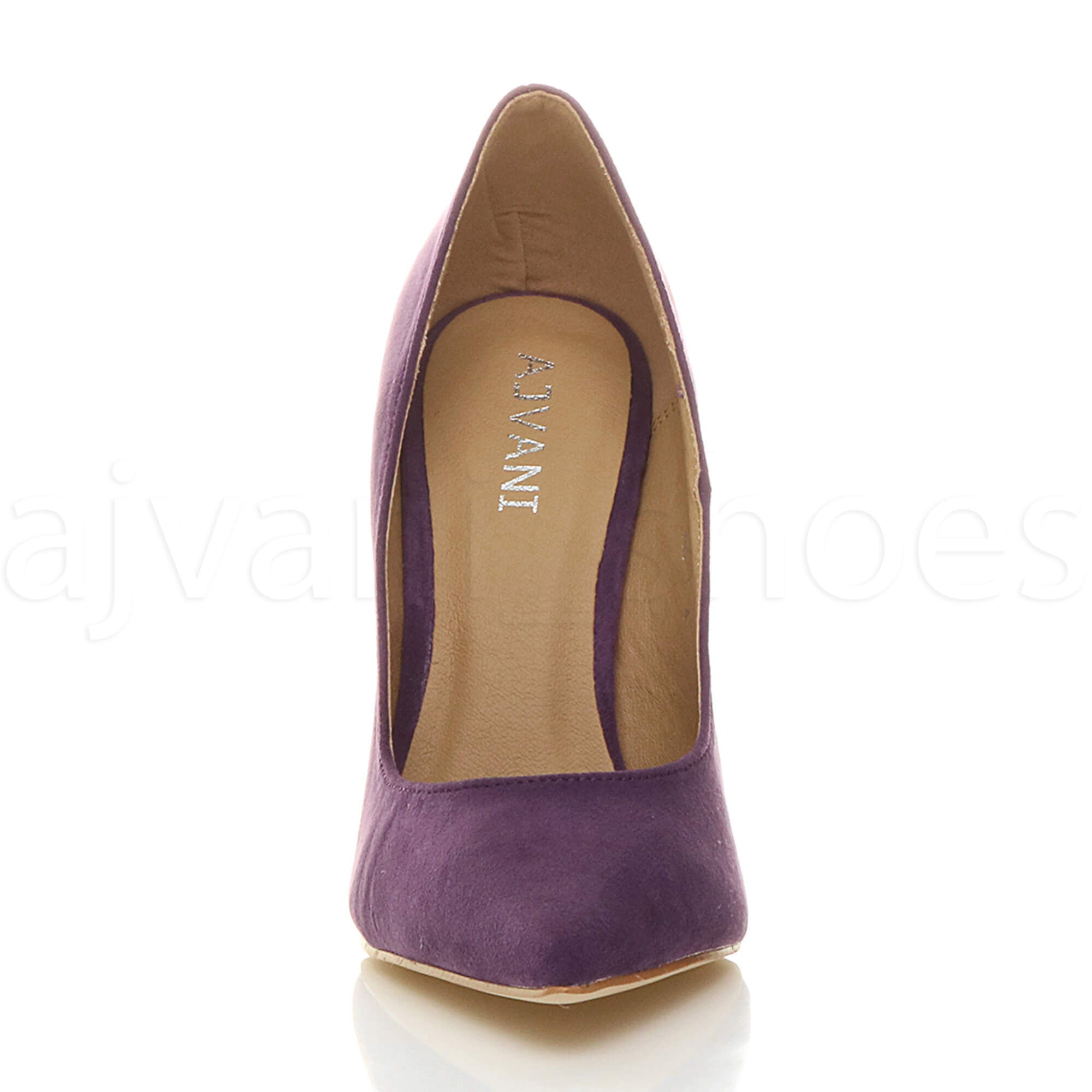 WOMENS-LADIES-HIGH-HEEL-POINTED-CONTRAST-COURT-SMART-PARTY-WORK-SHOES-PUMPS-SIZE thumbnail 157