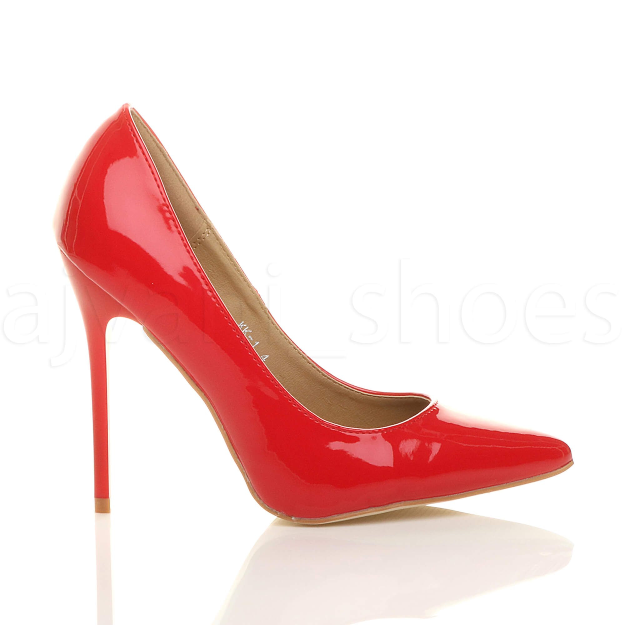 WOMENS-LADIES-HIGH-HEEL-POINTED-CONTRAST-COURT-SMART-PARTY-WORK-SHOES-PUMPS-SIZE thumbnail 161