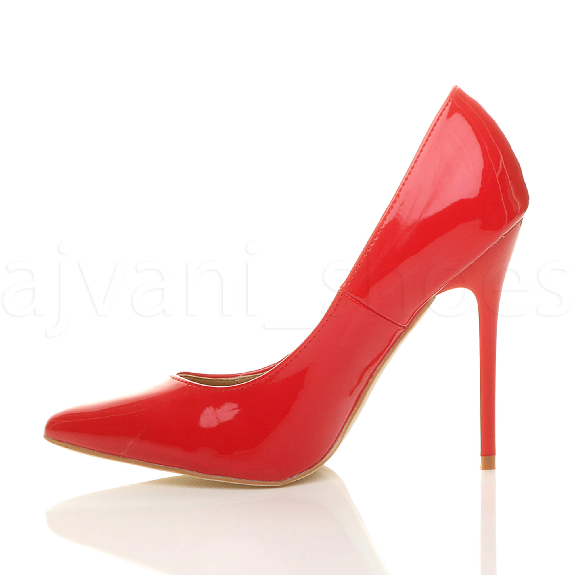 WOMENS-LADIES-HIGH-HEEL-POINTED-CONTRAST-COURT-SMART-PARTY-WORK-SHOES-PUMPS-SIZE thumbnail 178