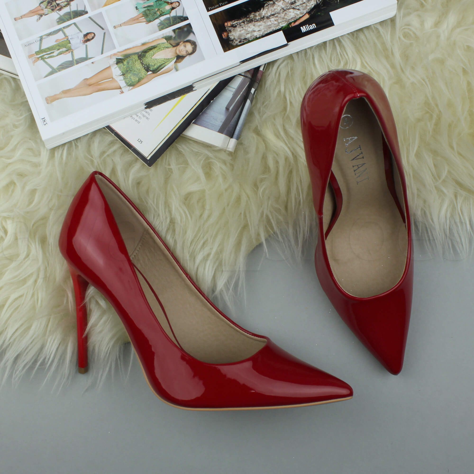 WOMENS-LADIES-HIGH-HEEL-POINTED-CONTRAST-COURT-SMART-PARTY-WORK-SHOES-PUMPS-SIZE thumbnail 163