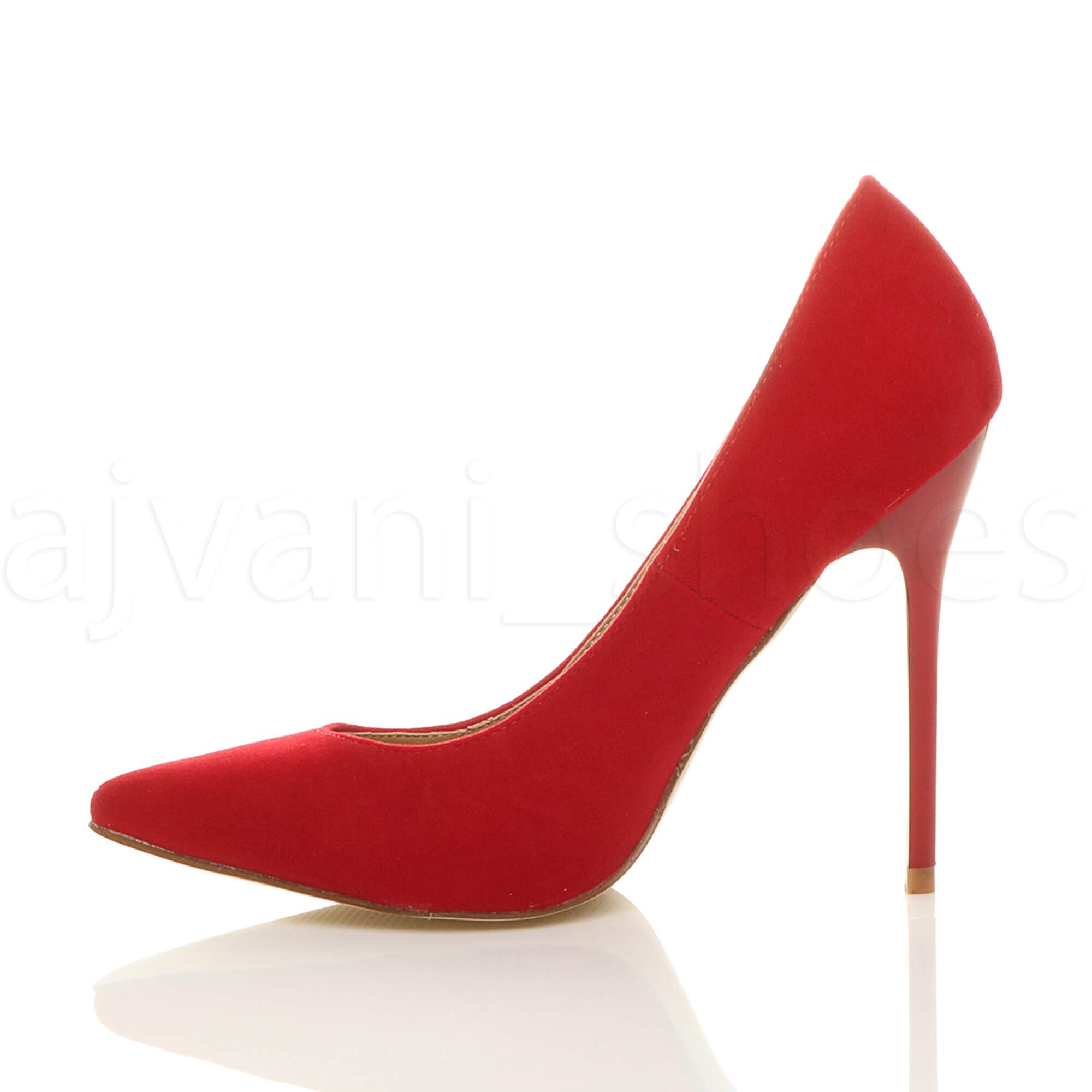 WOMENS-LADIES-HIGH-HEEL-POINTED-CONTRAST-COURT-SMART-PARTY-WORK-SHOES-PUMPS-SIZE thumbnail 186
