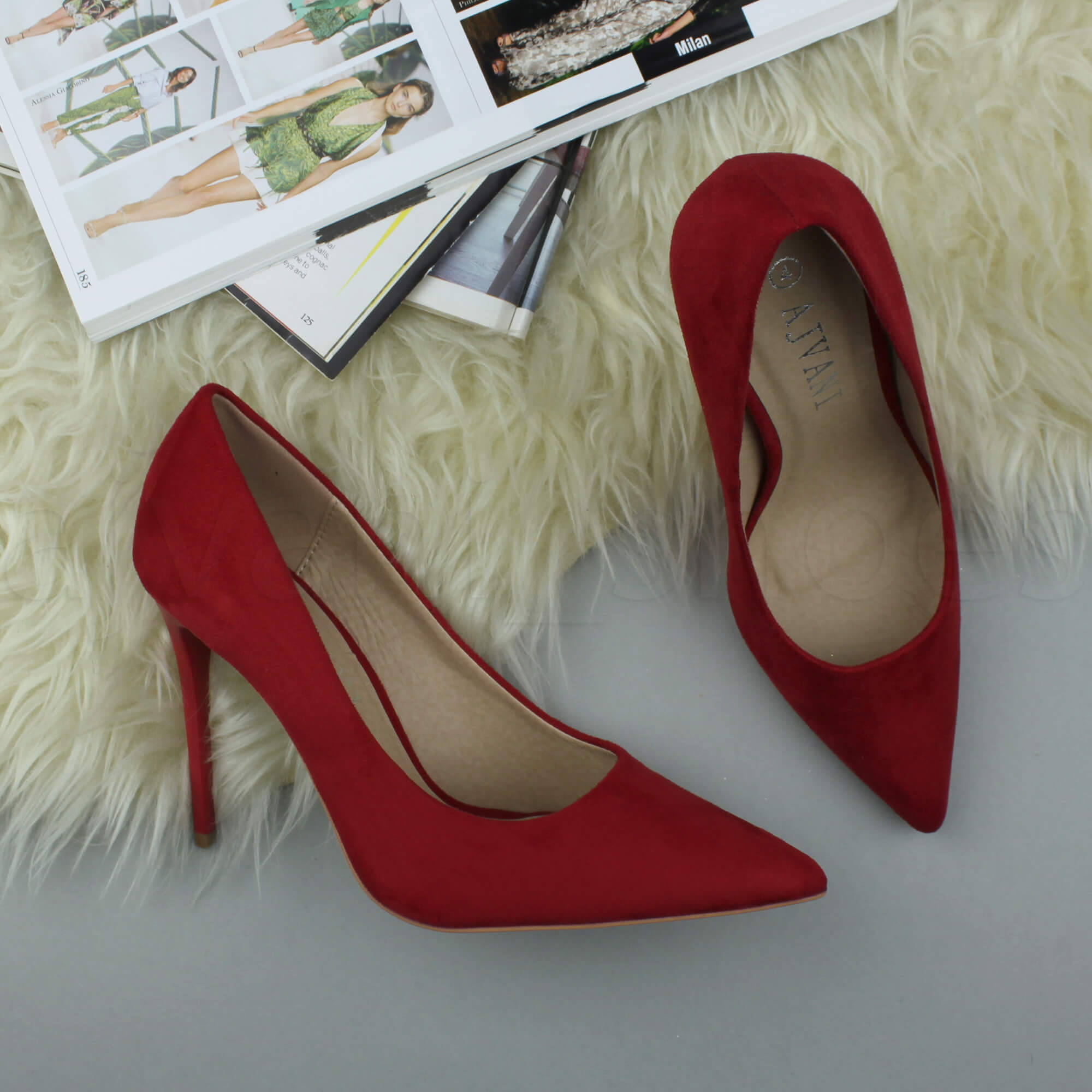 WOMENS-LADIES-HIGH-HEEL-POINTED-CONTRAST-COURT-SMART-PARTY-WORK-SHOES-PUMPS-SIZE thumbnail 171