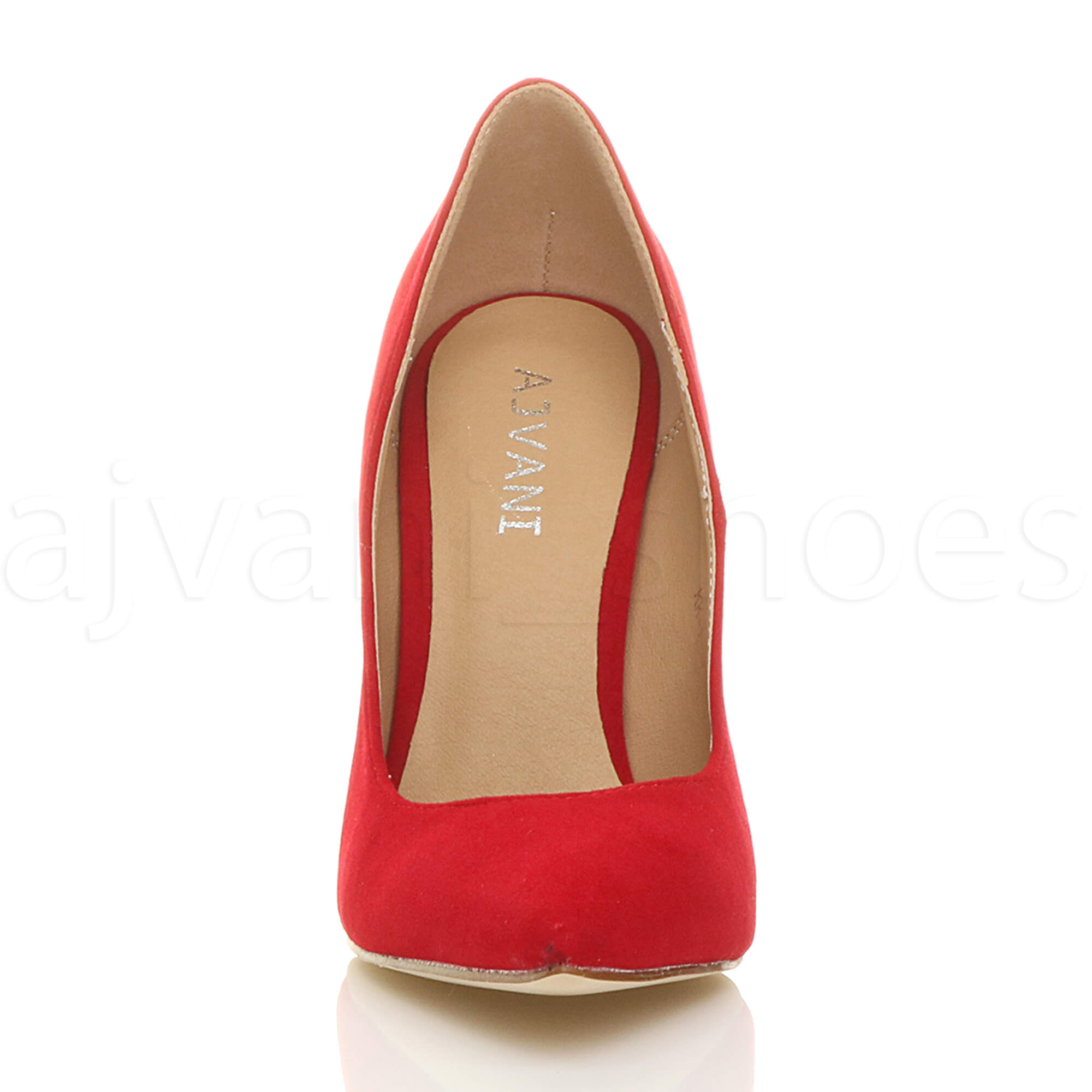 WOMENS-LADIES-HIGH-HEEL-POINTED-CONTRAST-COURT-SMART-PARTY-WORK-SHOES-PUMPS-SIZE thumbnail 173
