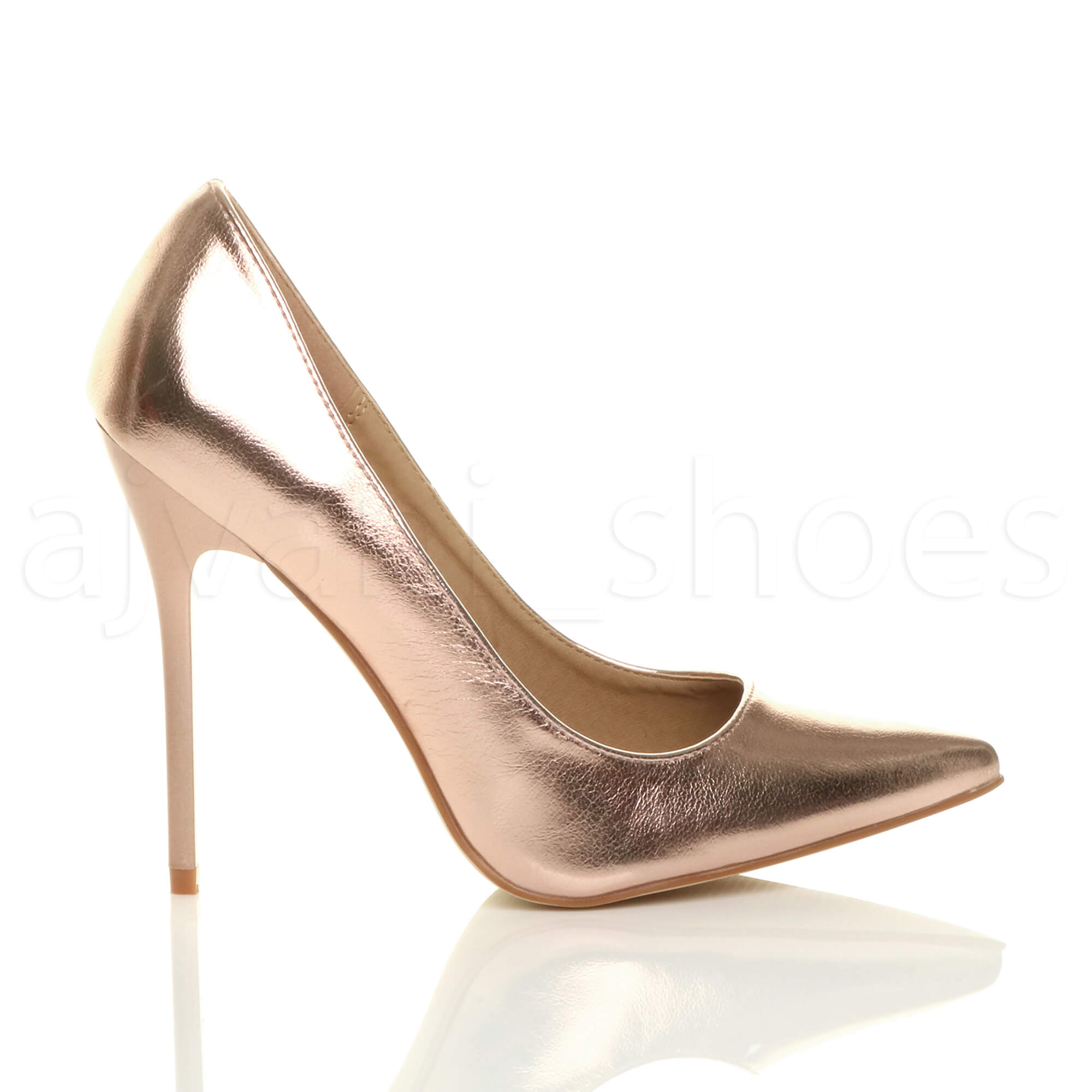WOMENS-LADIES-HIGH-HEEL-POINTED-CONTRAST-COURT-SMART-PARTY-WORK-SHOES-PUMPS-SIZE thumbnail 177