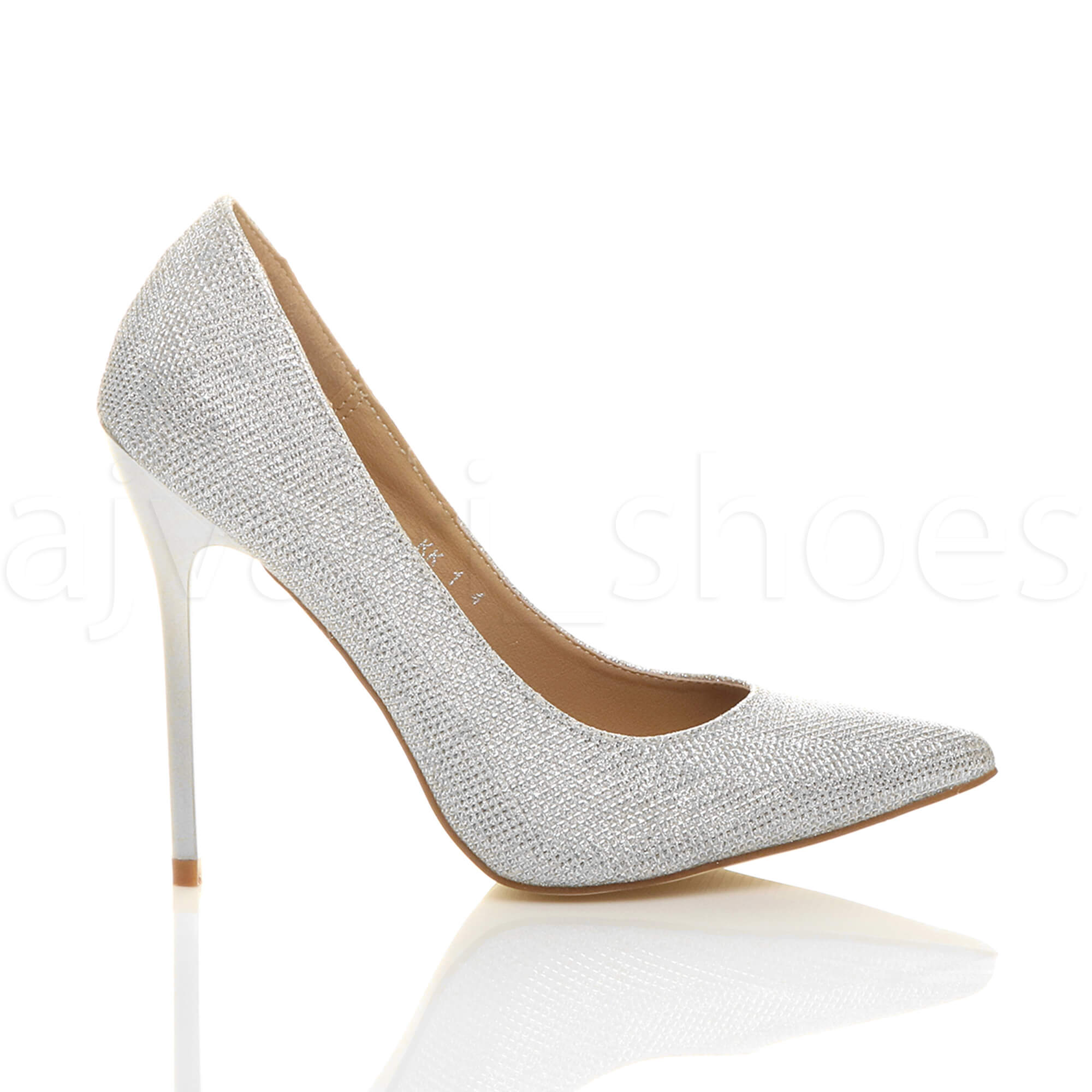 WOMENS-LADIES-HIGH-HEEL-POINTED-CONTRAST-COURT-SMART-PARTY-WORK-SHOES-PUMPS-SIZE thumbnail 200