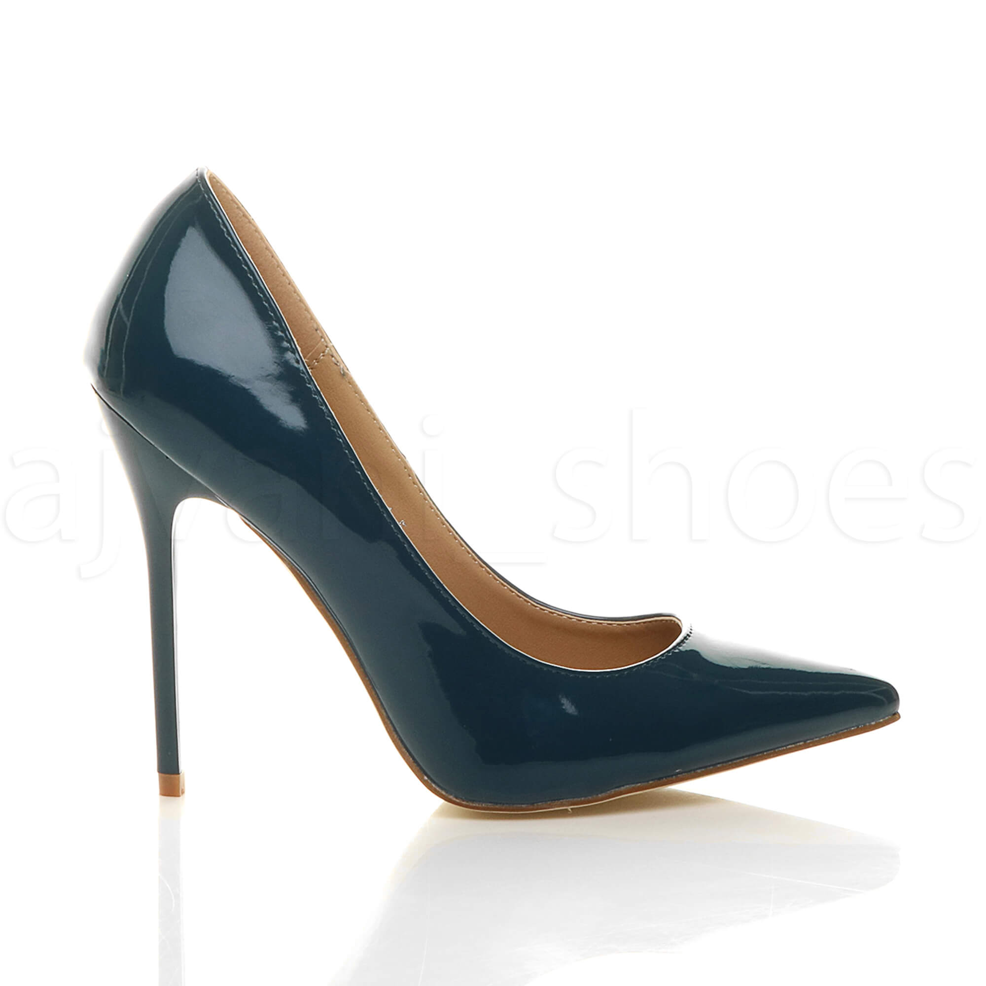WOMENS-LADIES-HIGH-HEEL-POINTED-CONTRAST-COURT-SMART-PARTY-WORK-SHOES-PUMPS-SIZE thumbnail 232