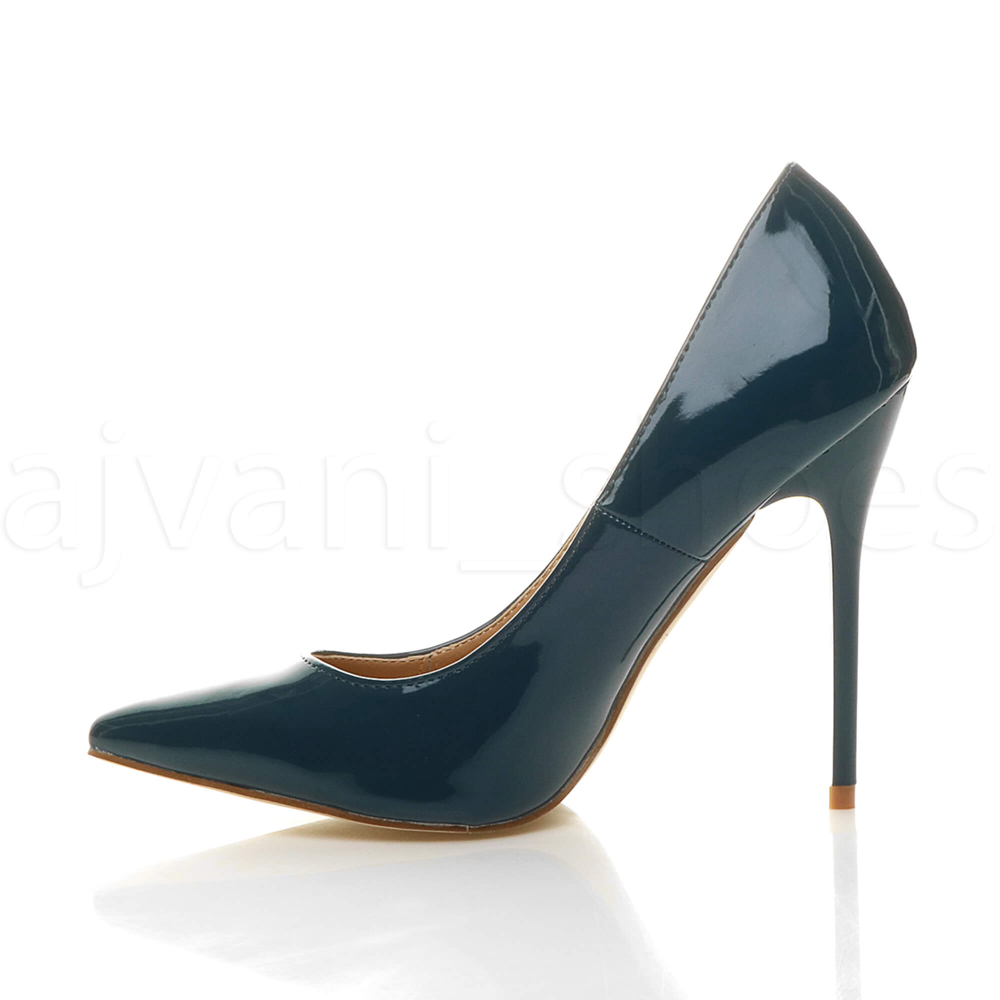 WOMENS-LADIES-HIGH-HEEL-POINTED-CONTRAST-COURT-SMART-PARTY-WORK-SHOES-PUMPS-SIZE thumbnail 233