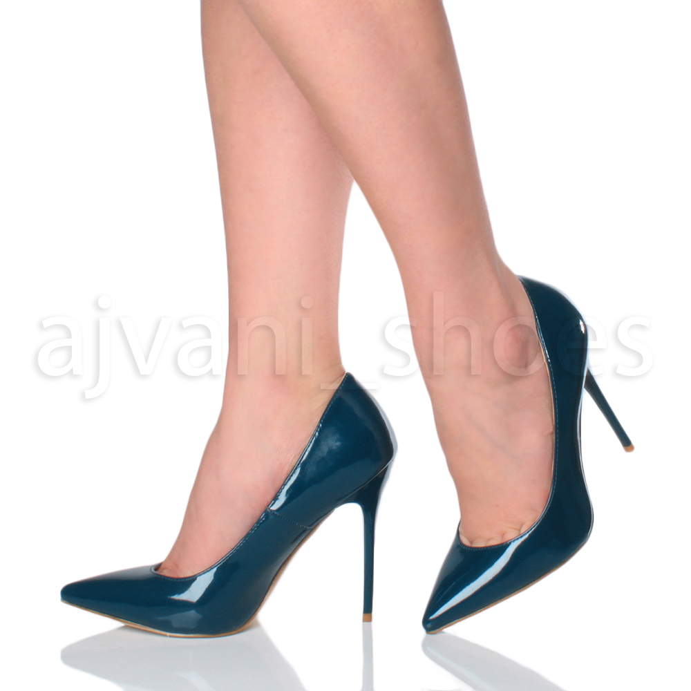 WOMENS-LADIES-HIGH-HEEL-POINTED-CONTRAST-COURT-SMART-PARTY-WORK-SHOES-PUMPS-SIZE thumbnail 211