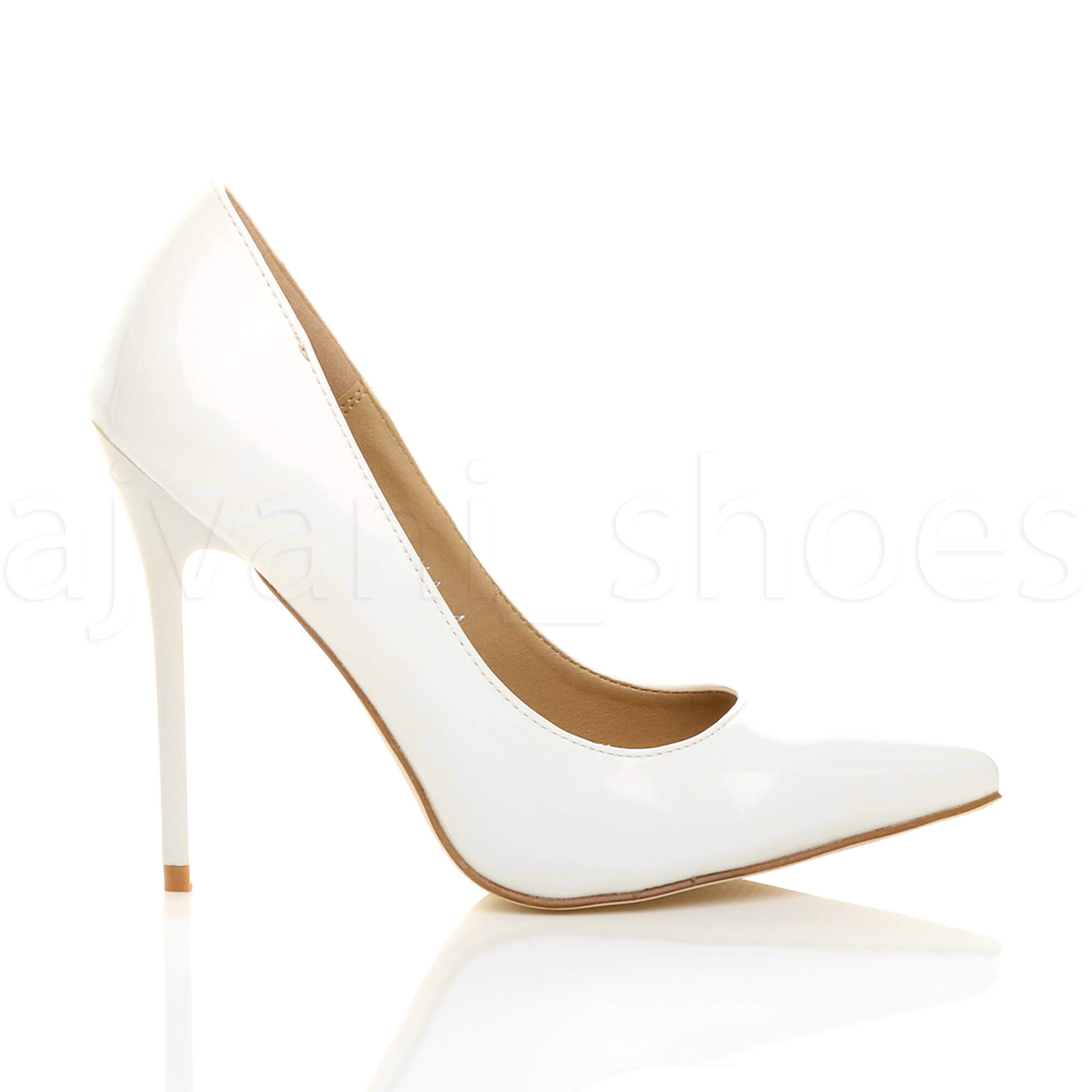 WOMENS-LADIES-HIGH-HEEL-POINTED-CONTRAST-COURT-SMART-PARTY-WORK-SHOES-PUMPS-SIZE thumbnail 224