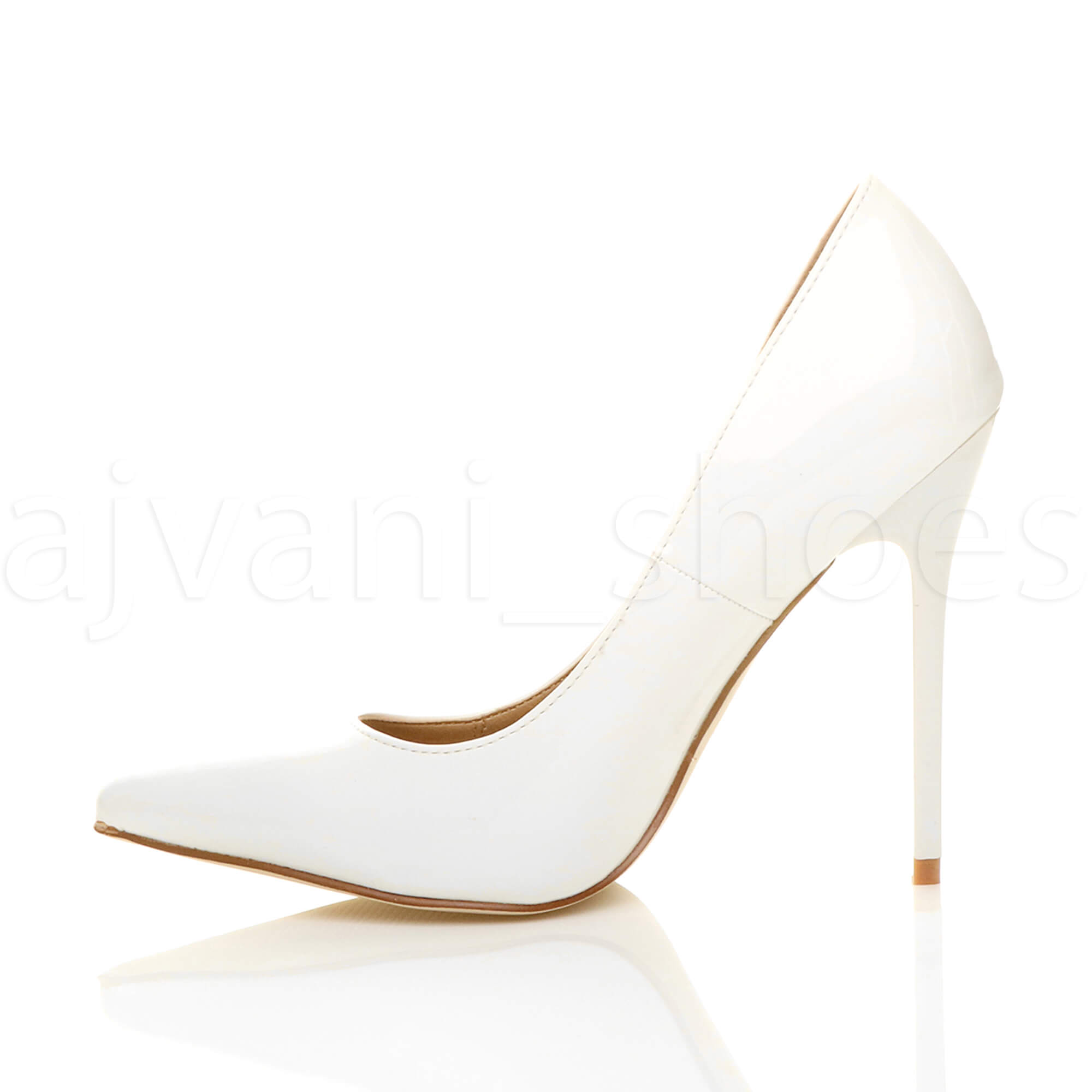 WOMENS-LADIES-HIGH-HEEL-POINTED-CONTRAST-COURT-SMART-PARTY-WORK-SHOES-PUMPS-SIZE thumbnail 225