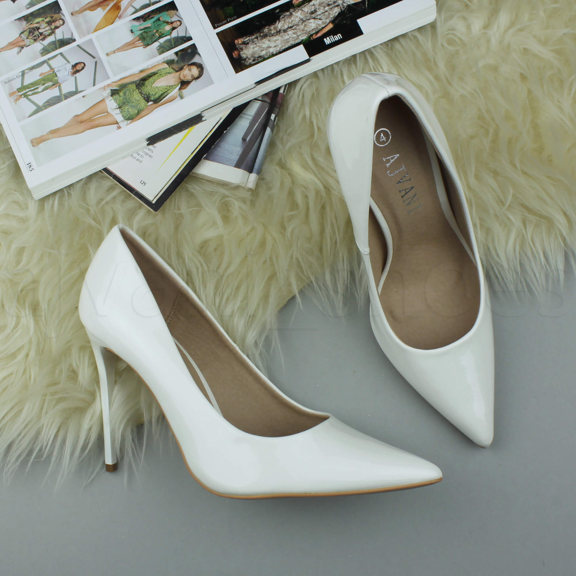 WOMENS-LADIES-HIGH-HEEL-POINTED-CONTRAST-COURT-SMART-PARTY-WORK-SHOES-PUMPS-SIZE thumbnail 250