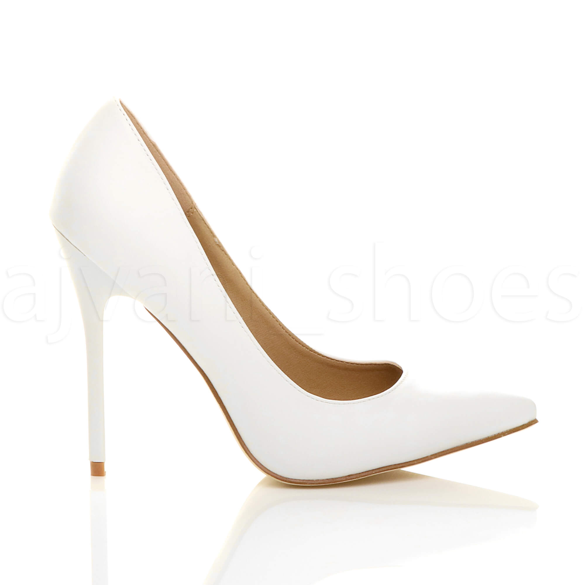 WOMENS-LADIES-HIGH-HEEL-POINTED-CONTRAST-COURT-SMART-PARTY-WORK-SHOES-PUMPS-SIZE thumbnail 216