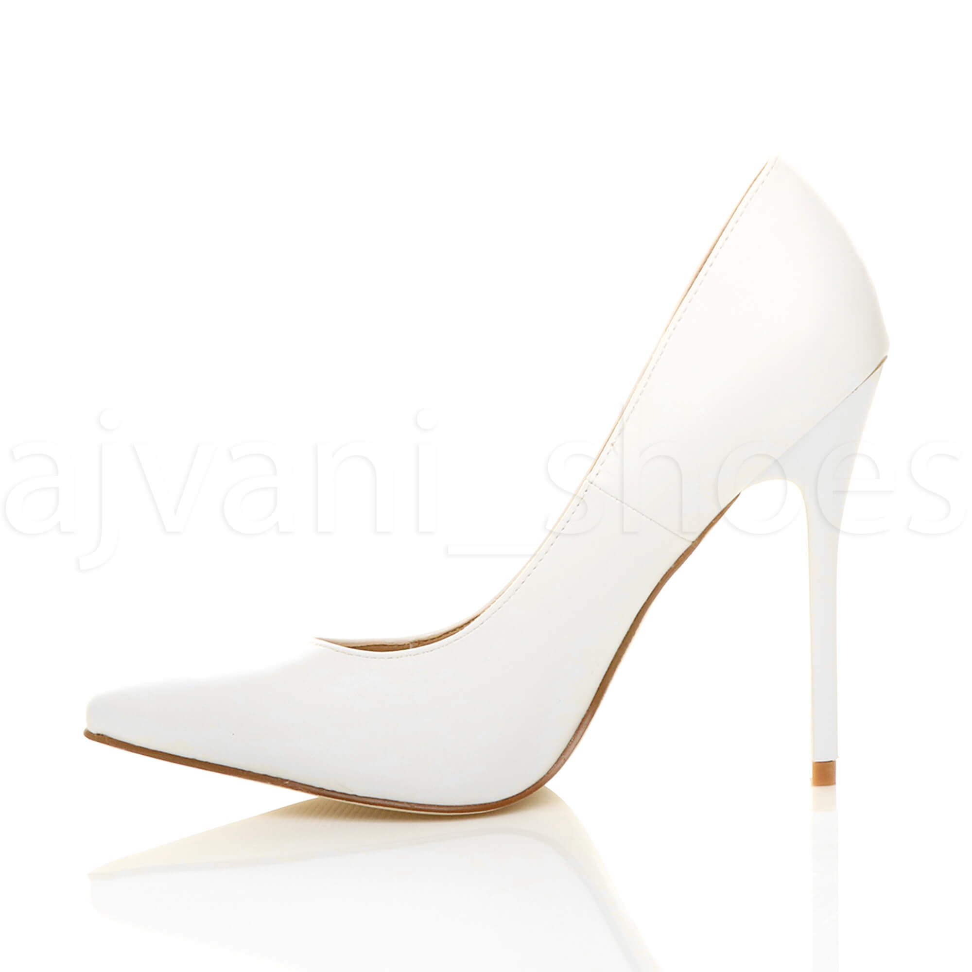 WOMENS-LADIES-HIGH-HEEL-POINTED-CONTRAST-COURT-SMART-PARTY-WORK-SHOES-PUMPS-SIZE thumbnail 217