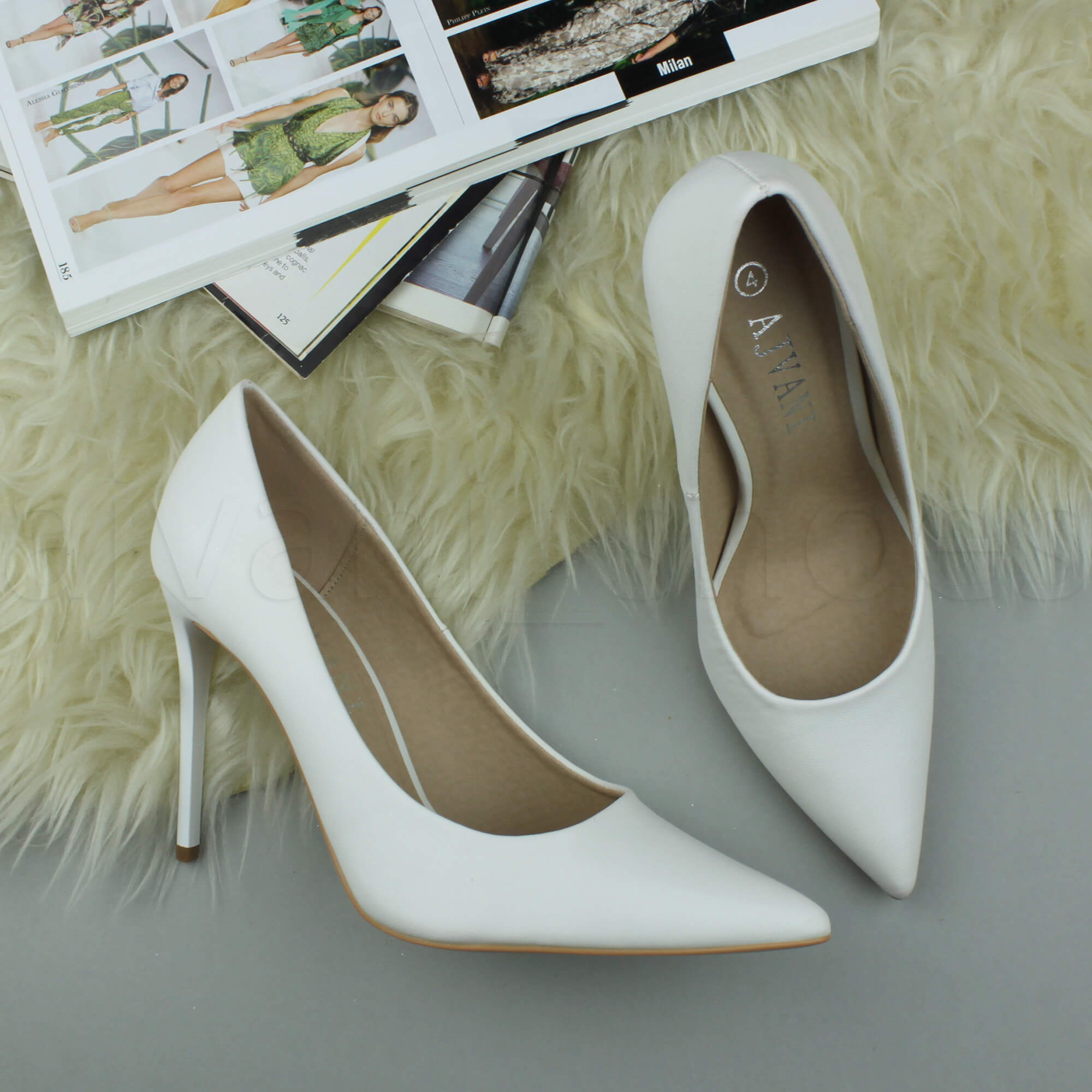WOMENS-LADIES-HIGH-HEEL-POINTED-CONTRAST-COURT-SMART-PARTY-WORK-SHOES-PUMPS-SIZE thumbnail 242