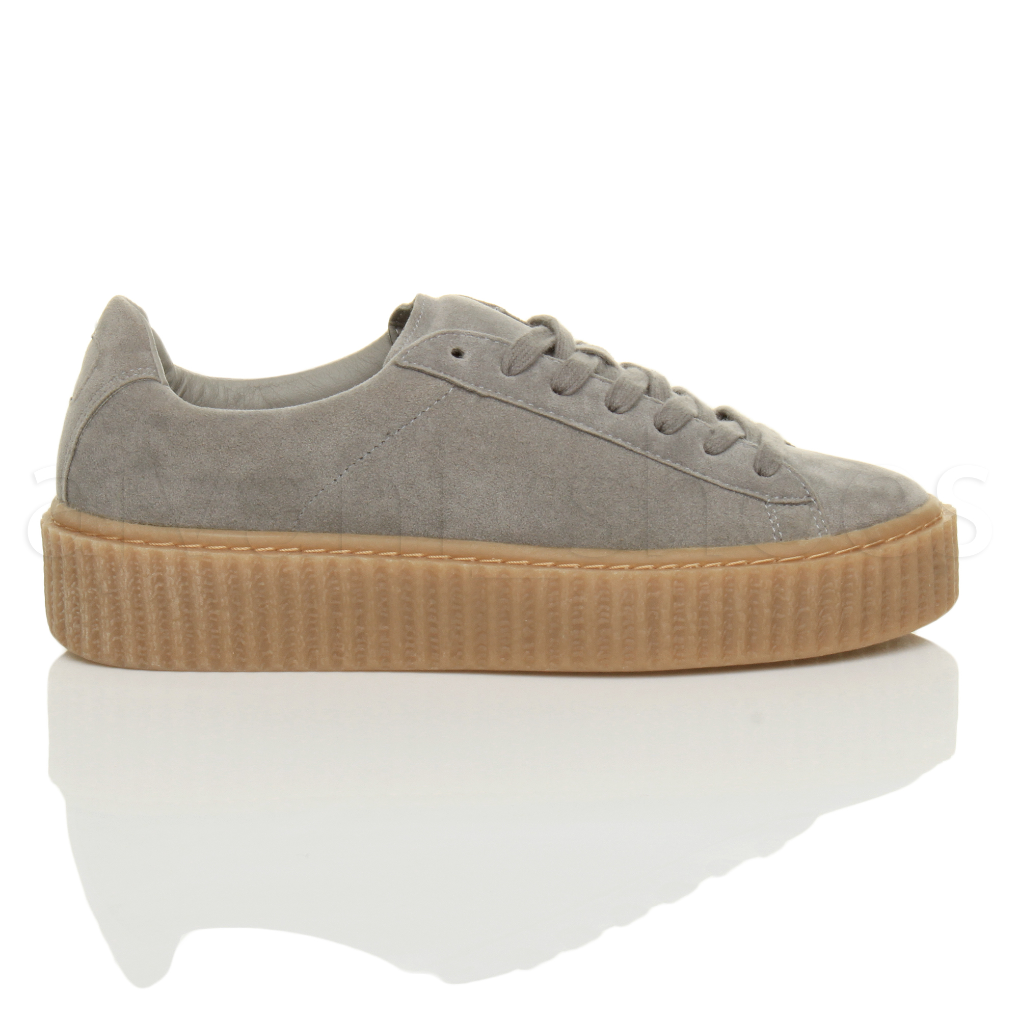 WOMENS-LADIES-PLATFORM-FLATFORM-WEDGE-CHUNKY-LACE-UP-TRAINERS-CREEPERS-SIZE