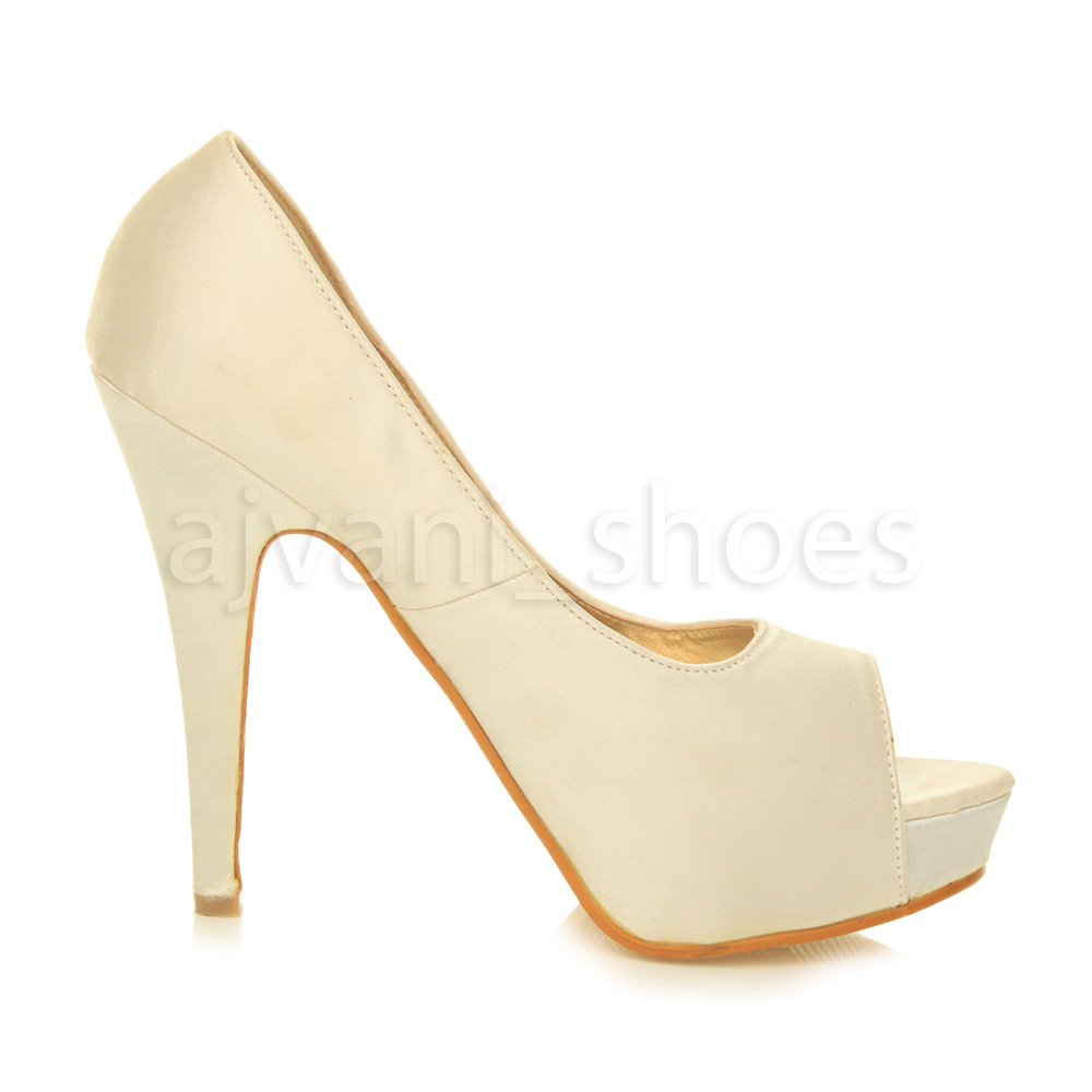 WOMENS-LADIES-PLATFORM-HIGH-HEEL-EVENING-PROM-PEEP-TOE-COURT-SHOES-SANDALS-SIZE thumbnail 10