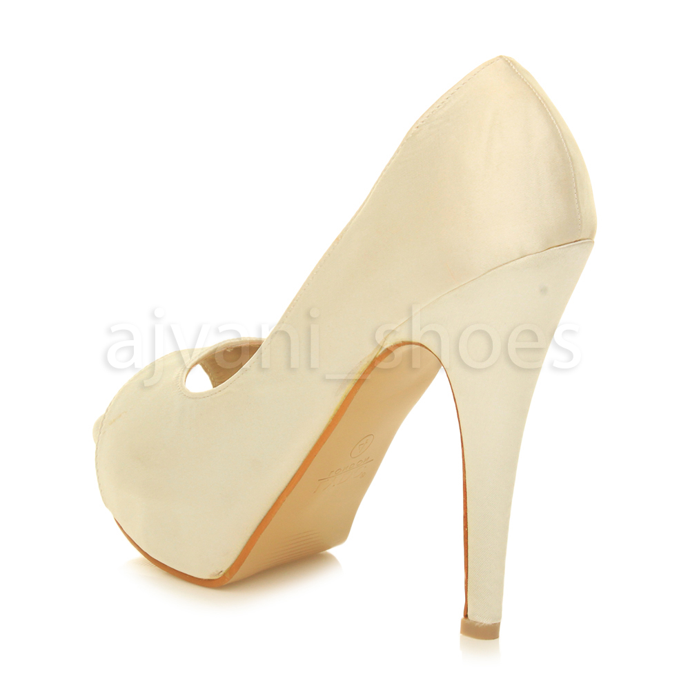 WOMENS-LADIES-PLATFORM-HIGH-HEEL-EVENING-PROM-PEEP-TOE-COURT-SHOES-SANDALS-SIZE thumbnail 11