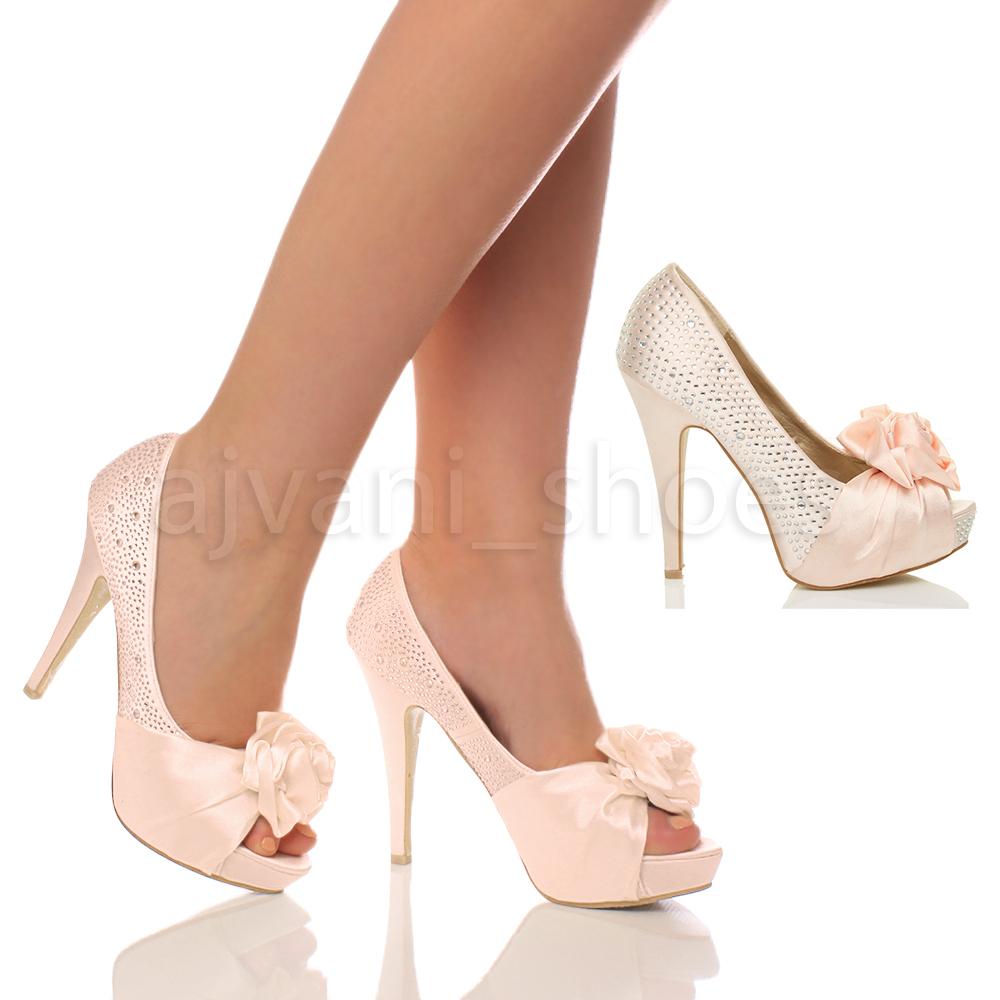 WOMENS-LADIES-HIGH-HEEL-BRIDAL-DIAMANTE-FLOWER-PEEP-TOE-COURT-SHOES-SANDALS-SIZE